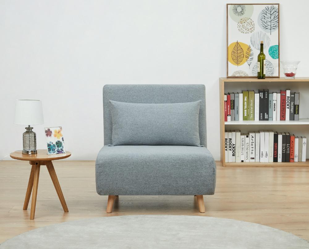 A&D Home Tustin Convertible Chair, Moonlight – Walmart Regarding Bolen Convertible Chairs (View 7 of 15)