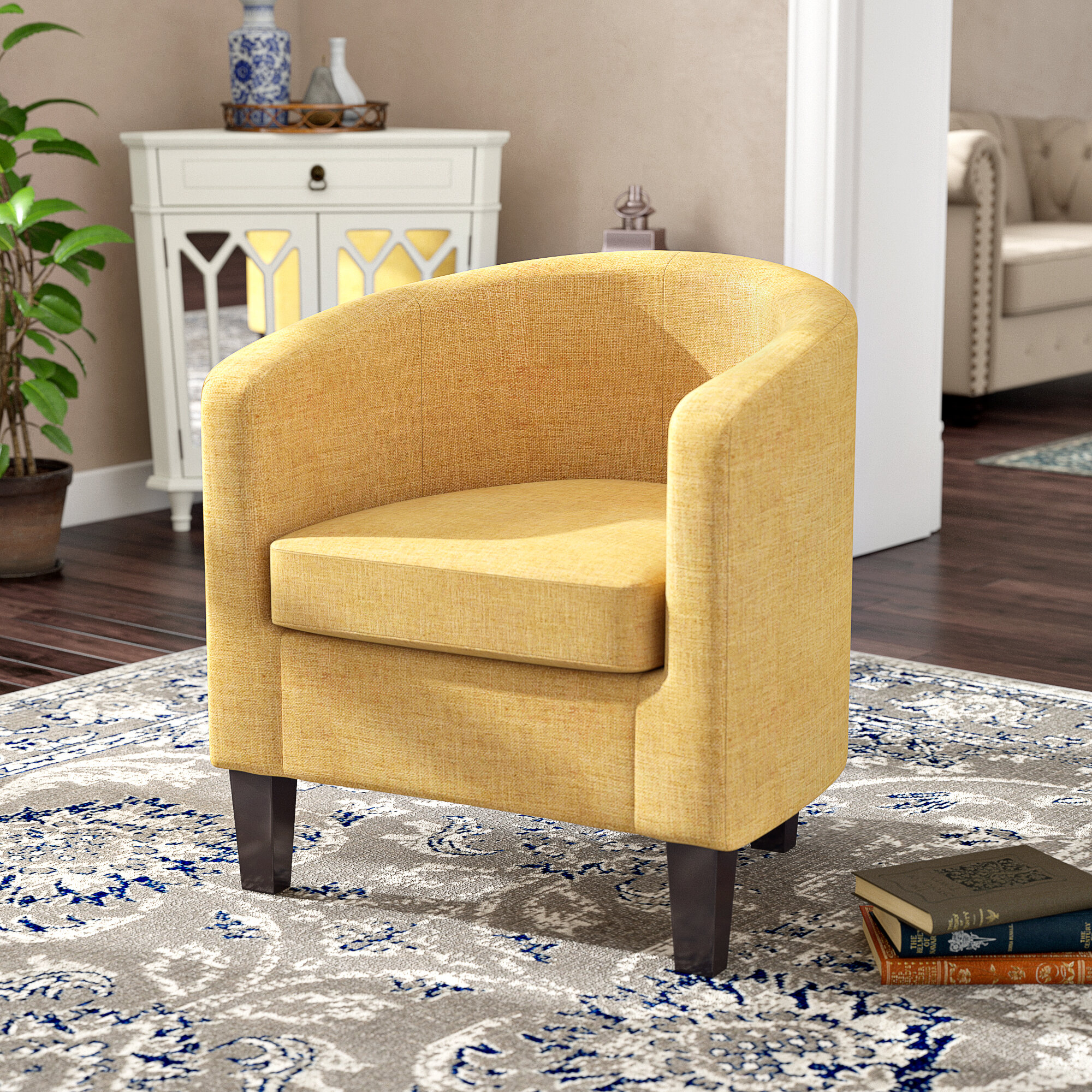 Adelia Barrel Chair With Regard To Navin Barrel Chairs (View 4 of 15)