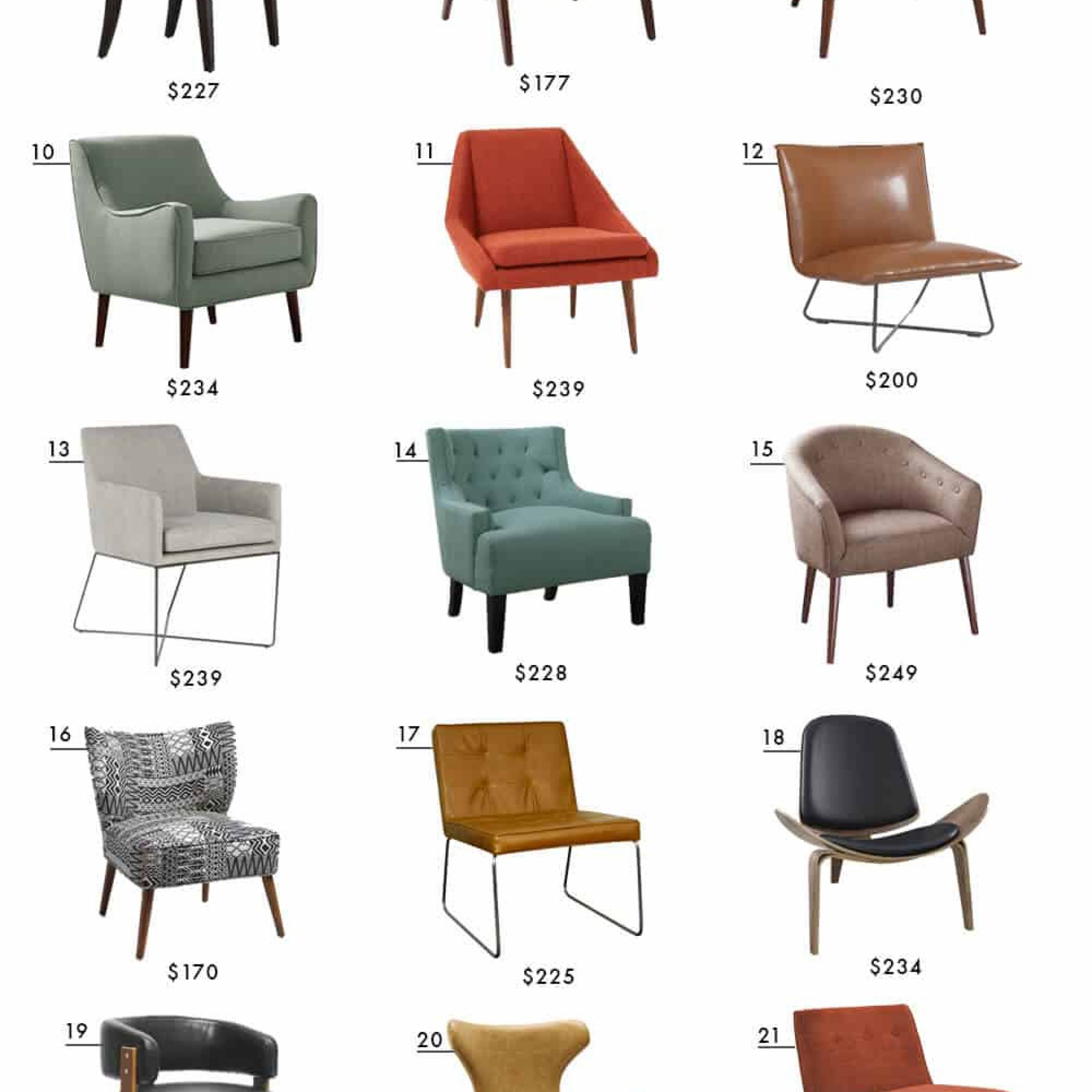 Affordable Accent Chair Roundup | Emily Henderson | Bloglovin' Pertaining To Hutchinsen Polyester Blend Armchairs (View 7 of 15)