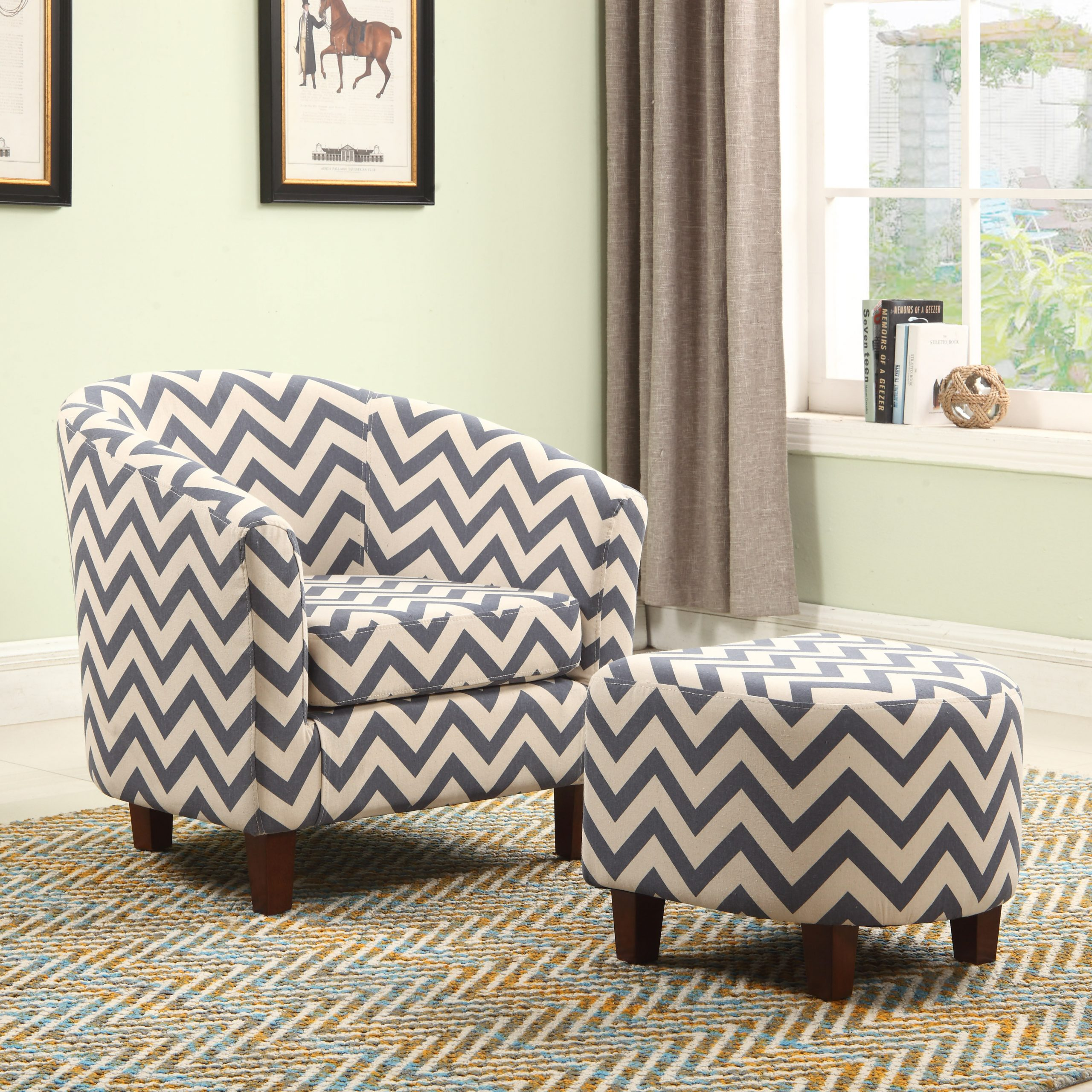Featured Image of Akimitsu Barrel Chair And Ottoman Sets