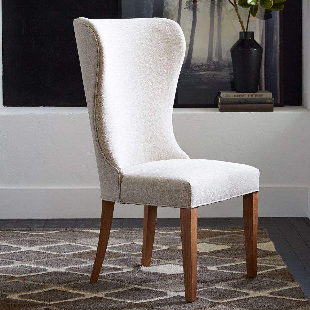 Albie Wing Dining Chair | Wingback Dining Chair, Dining Within Bob Stripe Upholstered Dining Chairs (Set Of 2) (View 10 of 15)