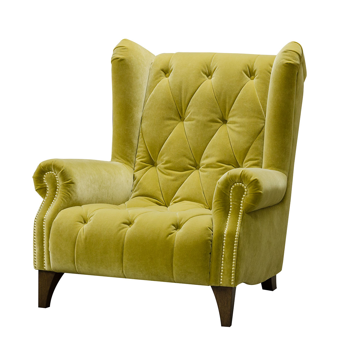 Alexander & James Ossie Armchair – Biba Mustard Inside James Armchairs (View 7 of 15)