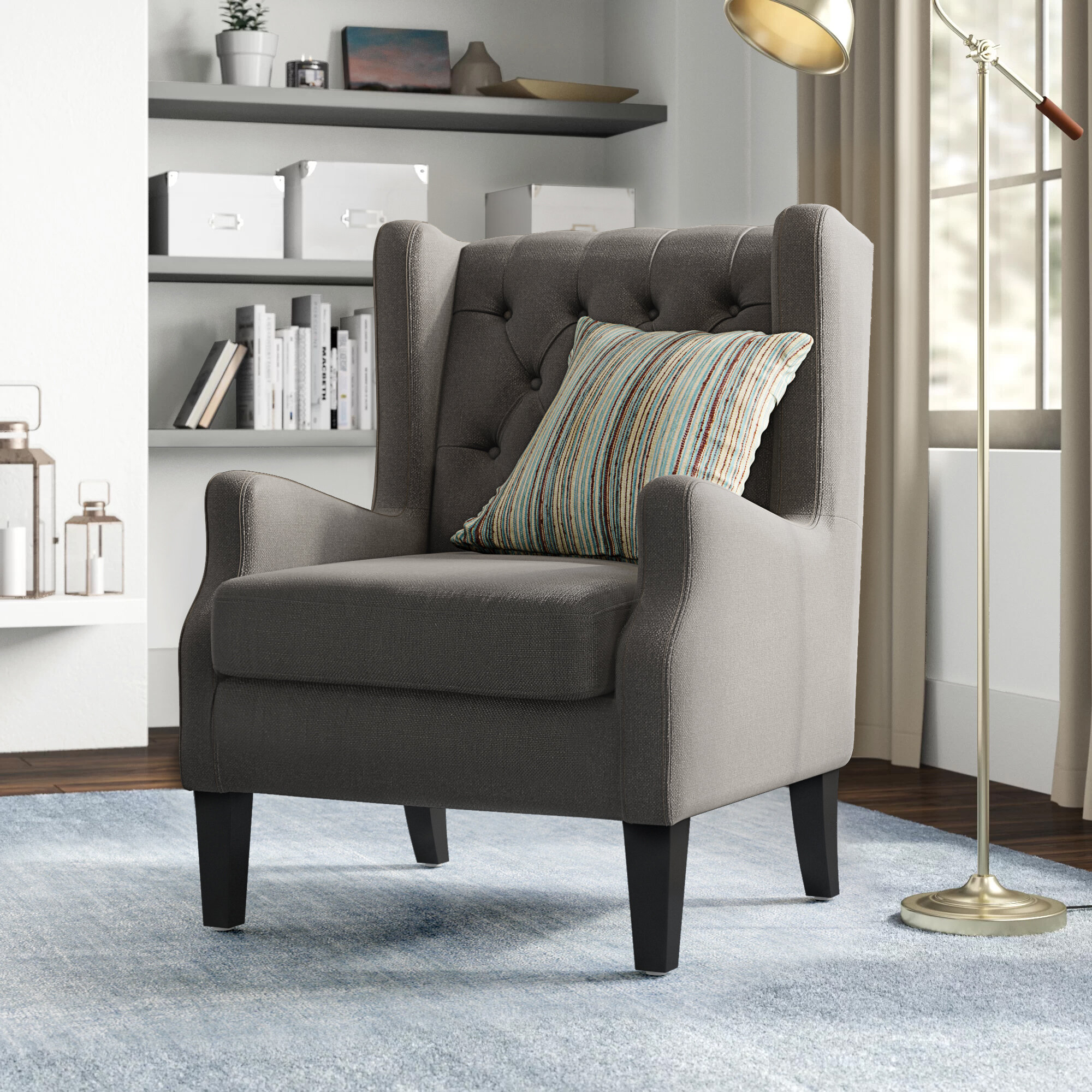 Featured Image of Allis Tufted Polyester Blend Wingback Chairs