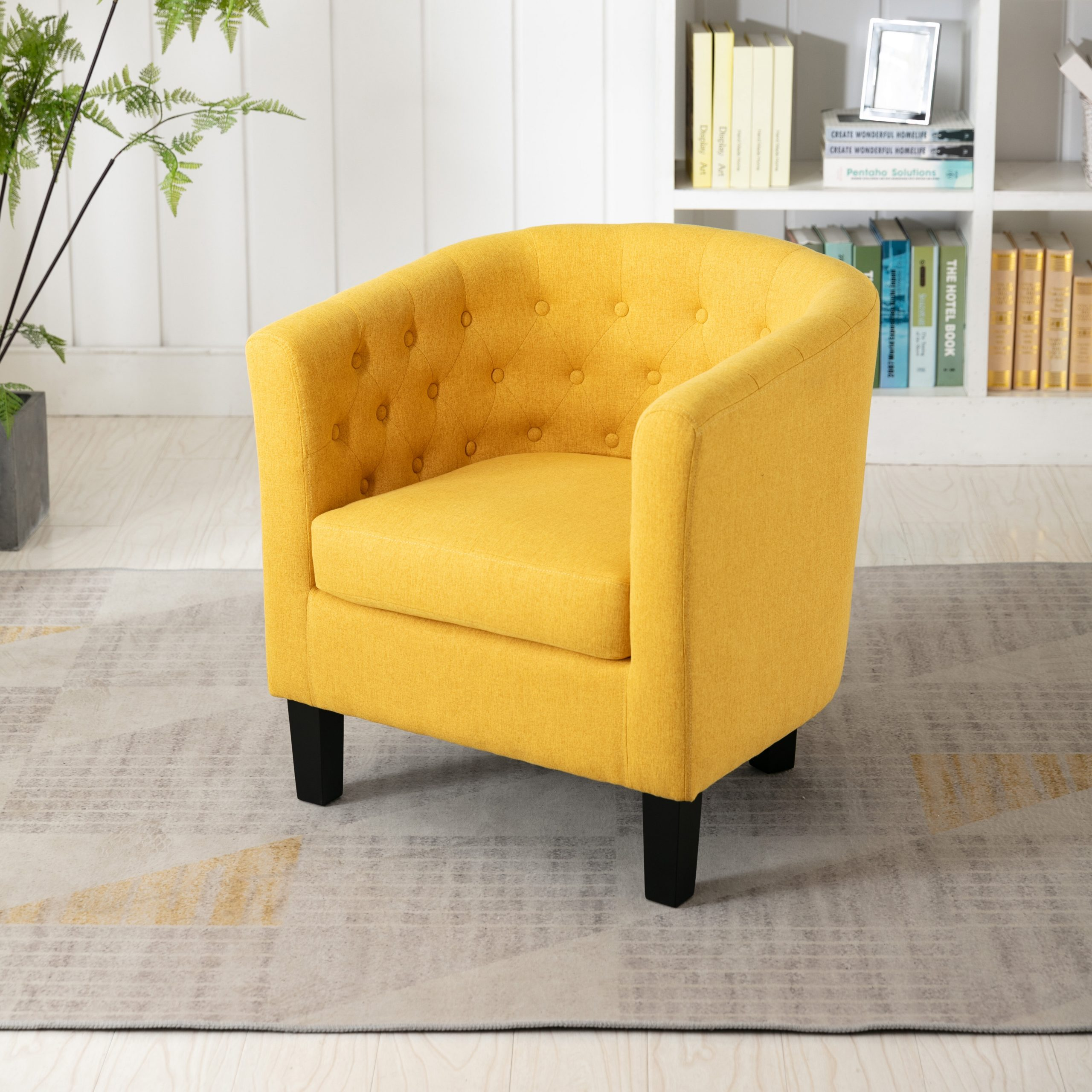 Featured Image of Alwillie Tufted Back Barrel Chairs