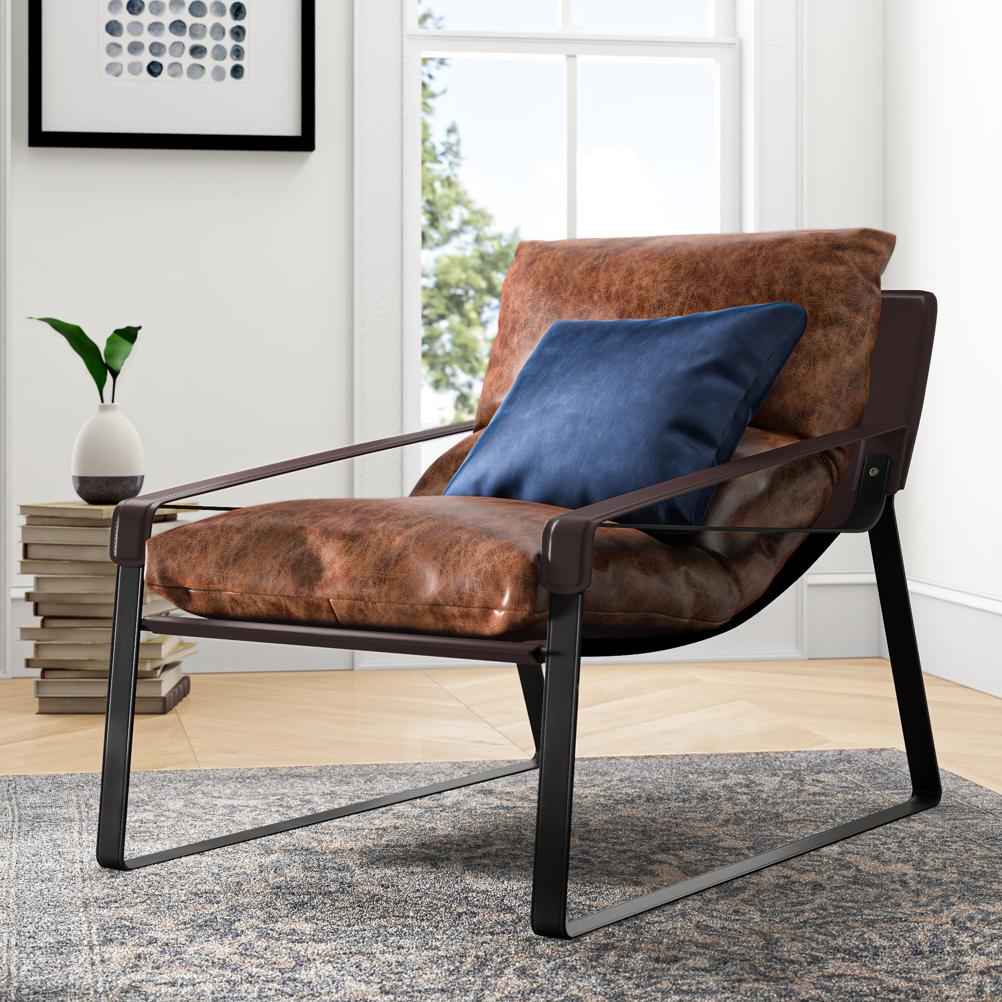 Alyse Lounge Chair Throughout Broadus Genuine Leather Suede Side Chairs (View 9 of 15)