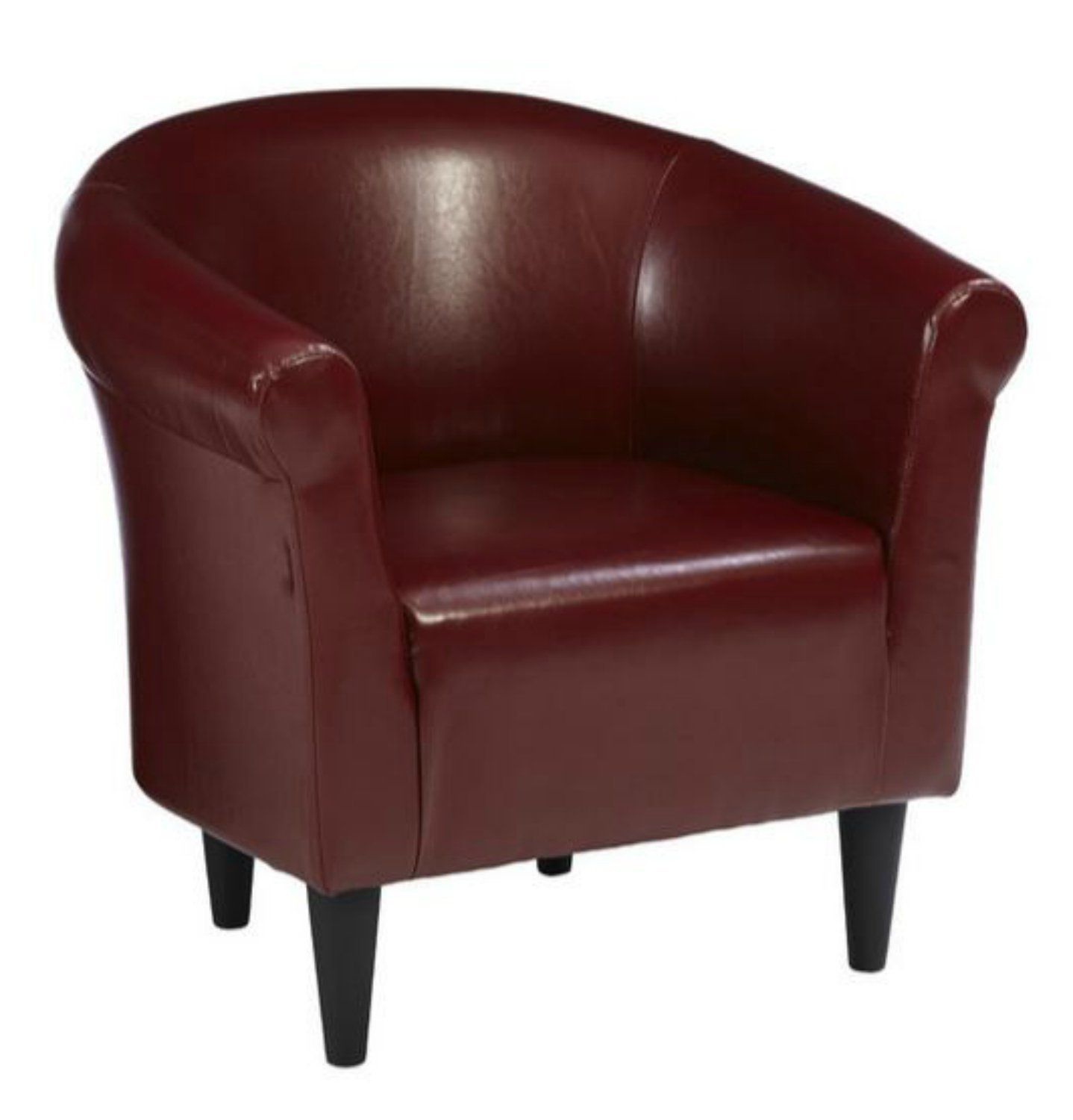 Amazon: Zipcode Contemporary Club Chair – This Faux Intended For Faux Leather Barrel Chairs (View 3 of 15)