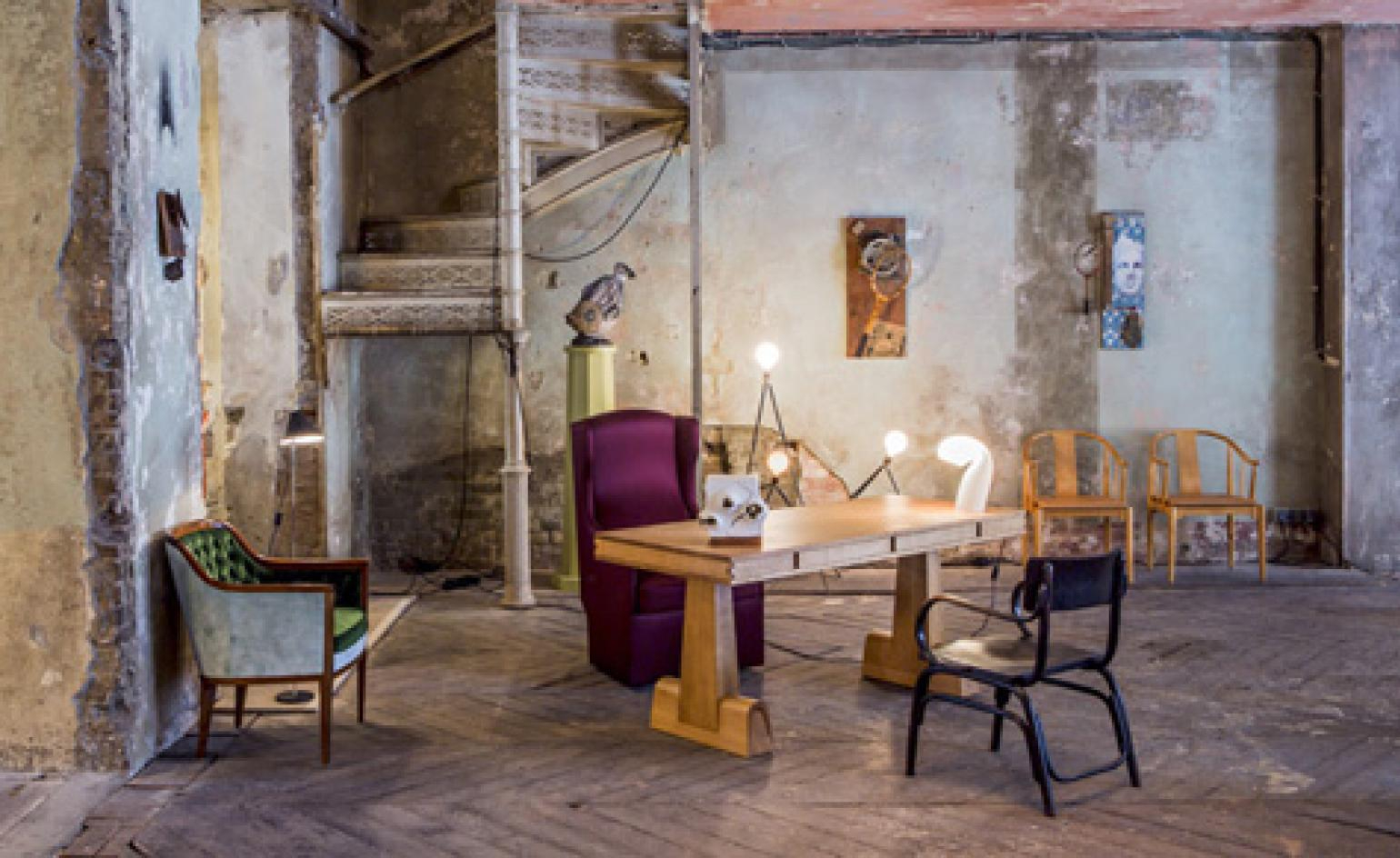An Art And Design Exhibition Transforms An Architectural With Regard To Hofstetter Armchairs (View 14 of 15)