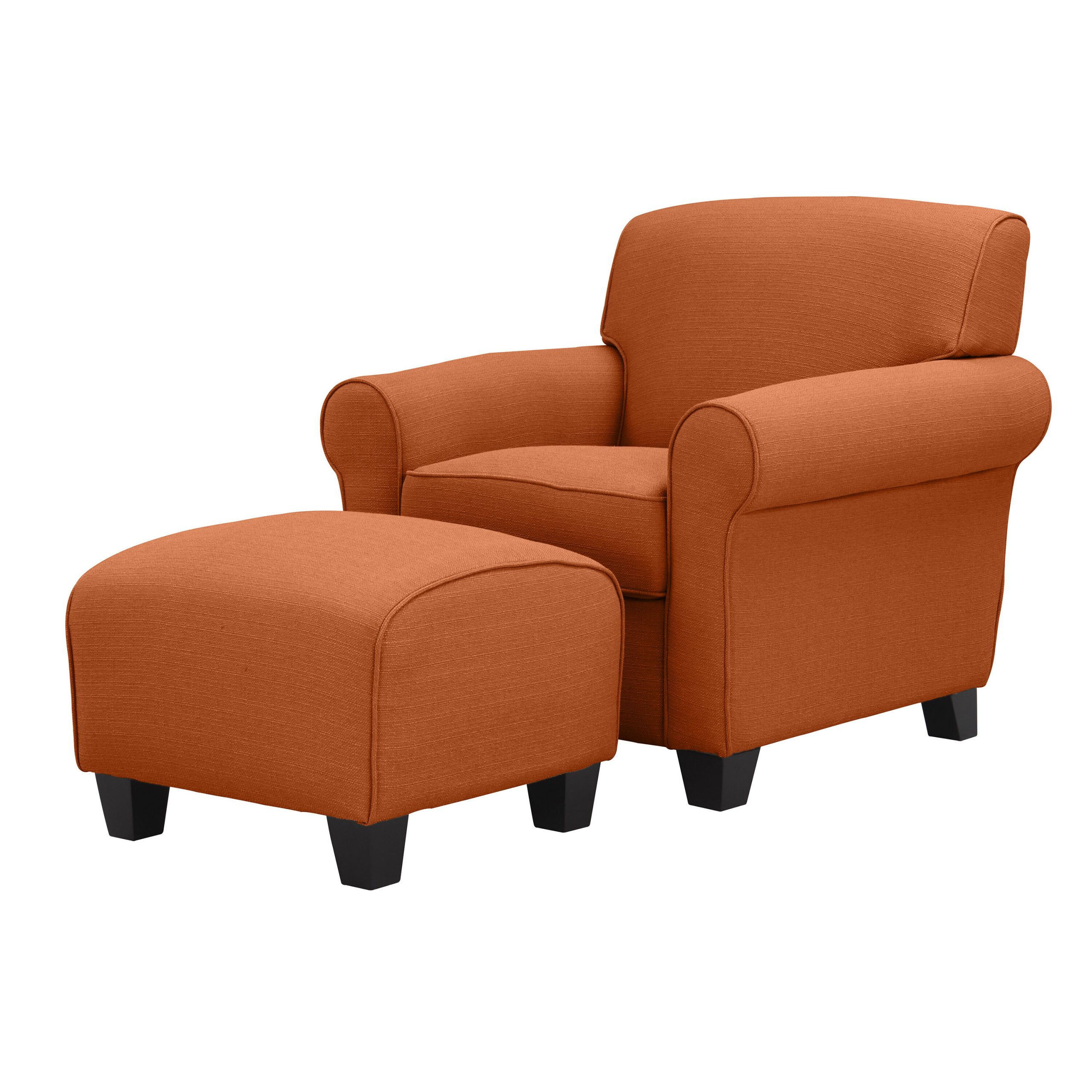 Andover Mills Aine Armchair And Ottoman Intended For Vineland Polyester Swivel Armchairs (View 10 of 15)