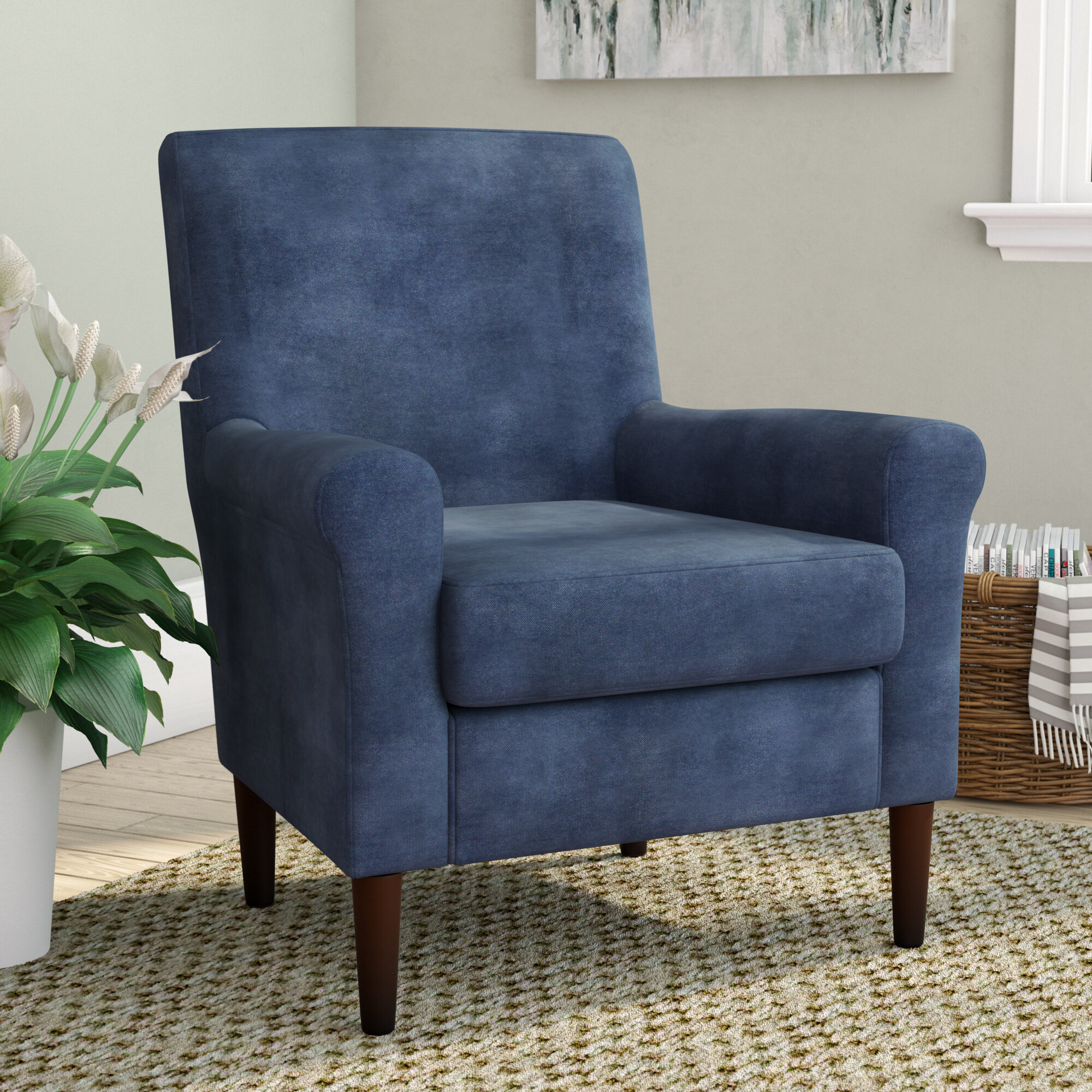 """Andover Mills™ Ronald 28"""" W Polyester Blend Armchair With Regard To Hanner Polyester Armchairs (View 6 of 15)"""