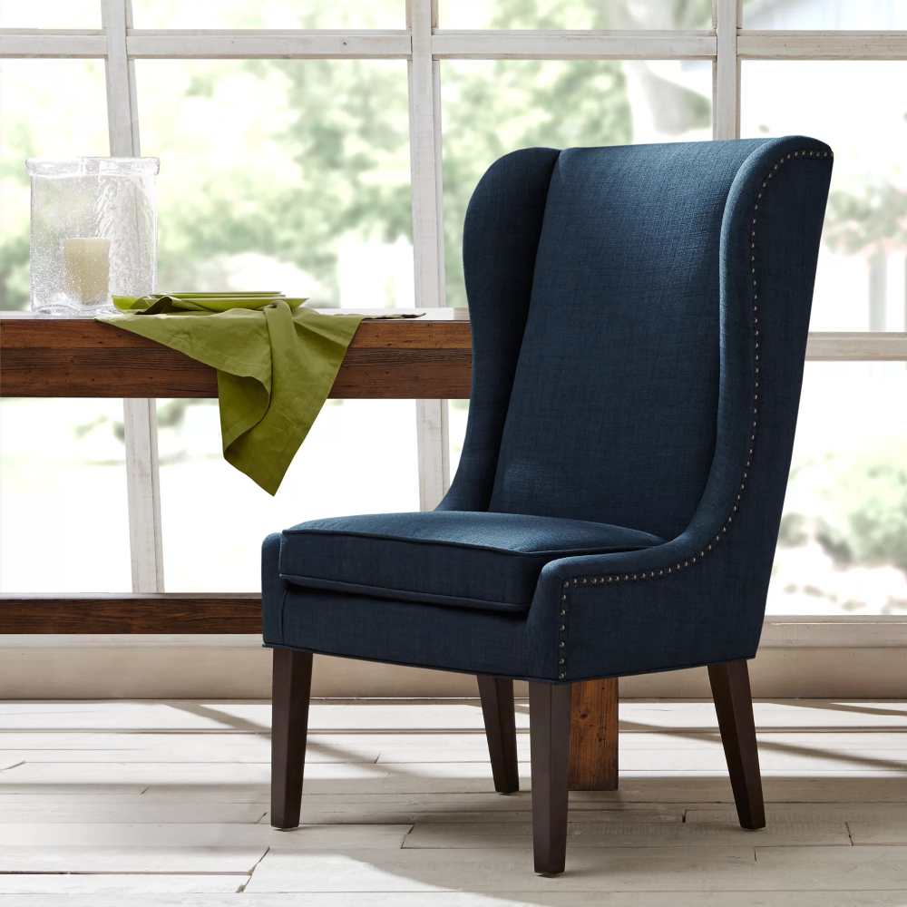 Andover Wingback Chair In 2020 | High Back Dining Chairs Regarding Andover Wingback Chairs (View 2 of 15)