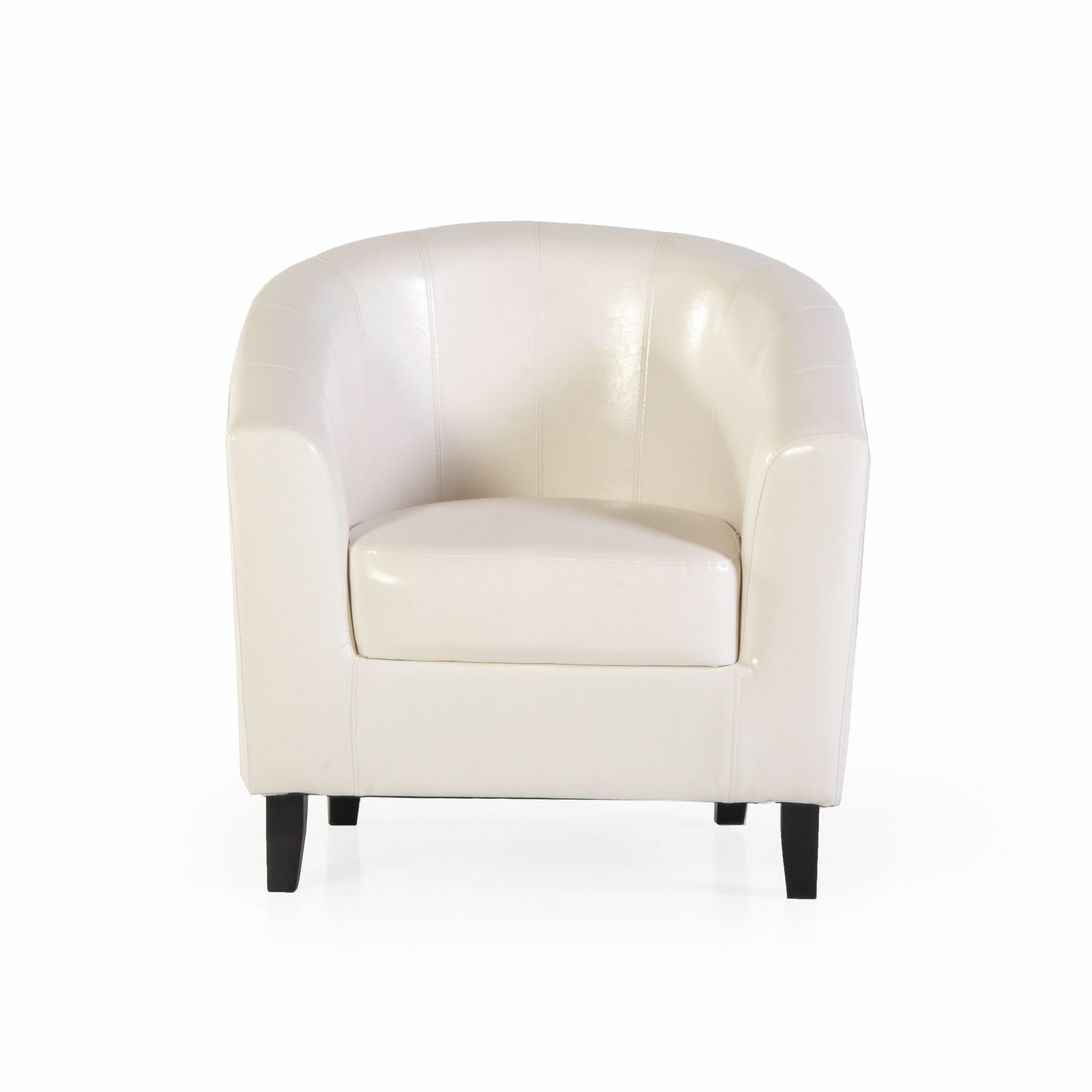 """Angadresma 27"""" W Faux Leather Barrel Chair Intended For Liam Faux Leather Barrel Chairs (View 7 of 15)"""