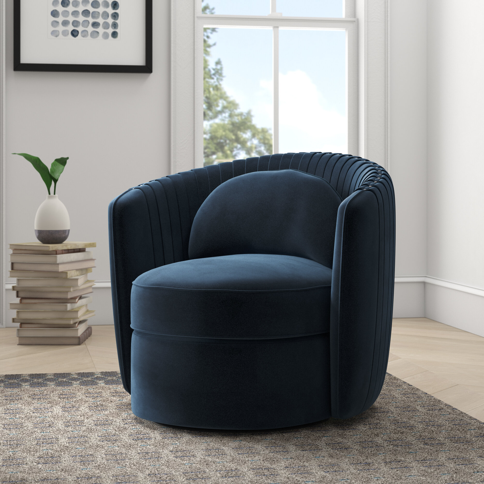 Featured Image of Danow Polyester Barrel Chairs
