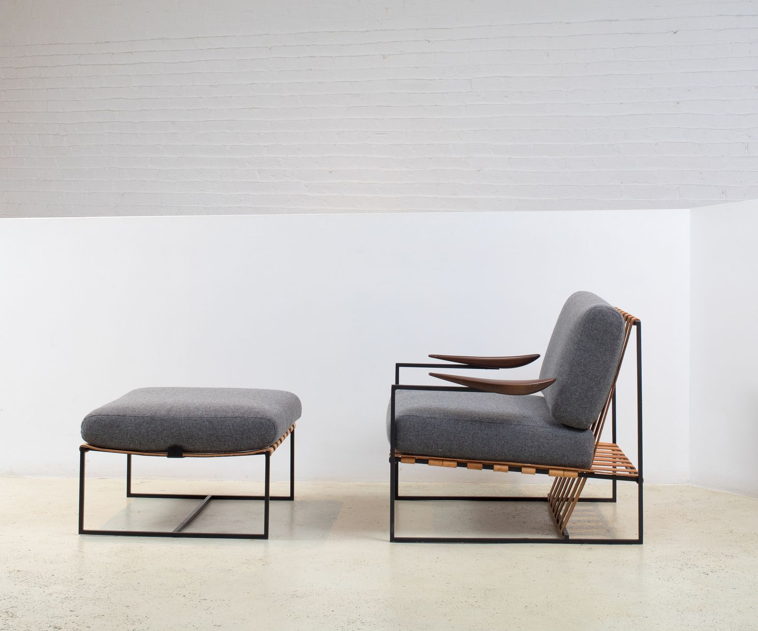 Annette Armchair And Ottoman Designedjorge Zalszupin With Modern Armchairs And Ottoman (View 3 of 15)