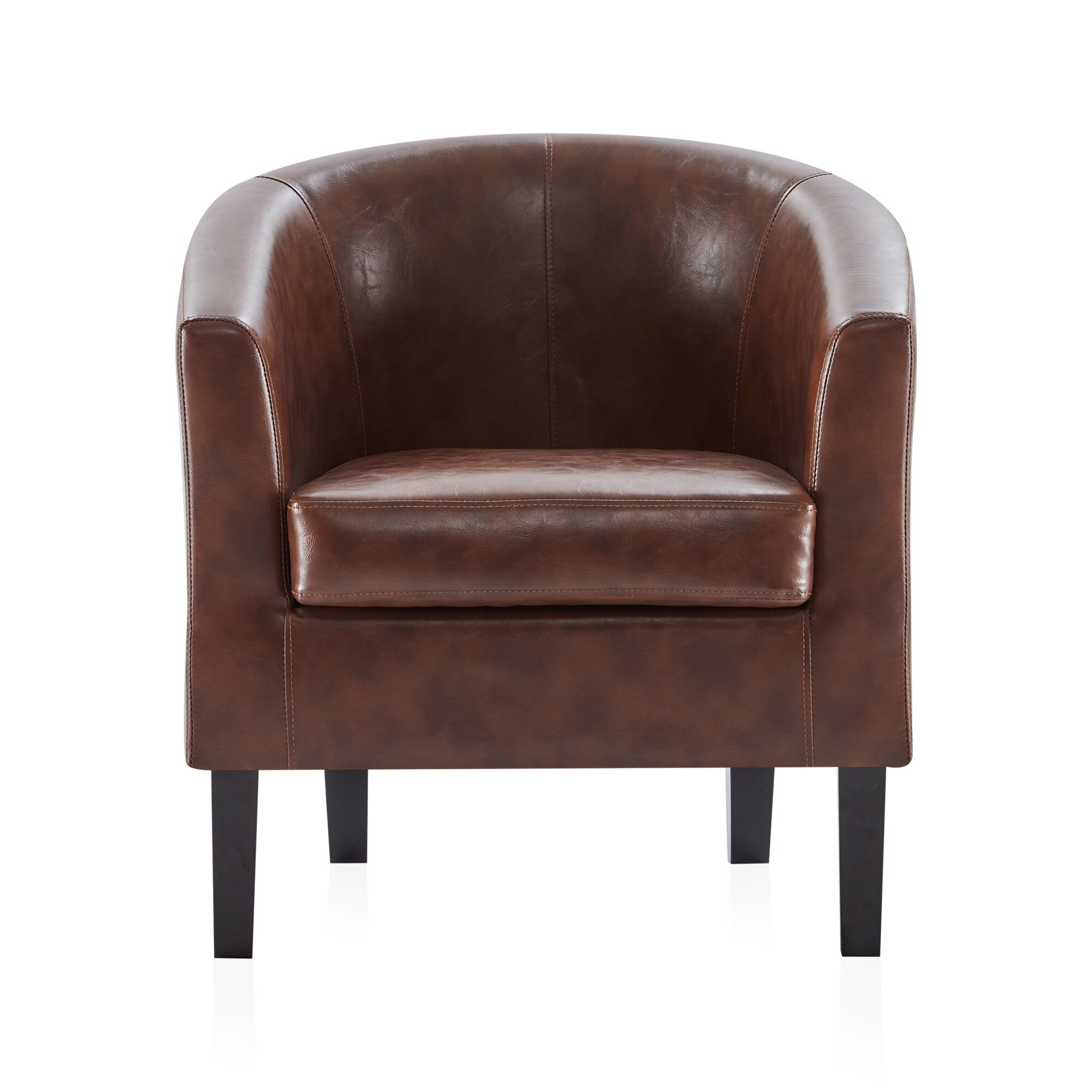Featured Image of Ansar Faux Leather Barrel Chairs