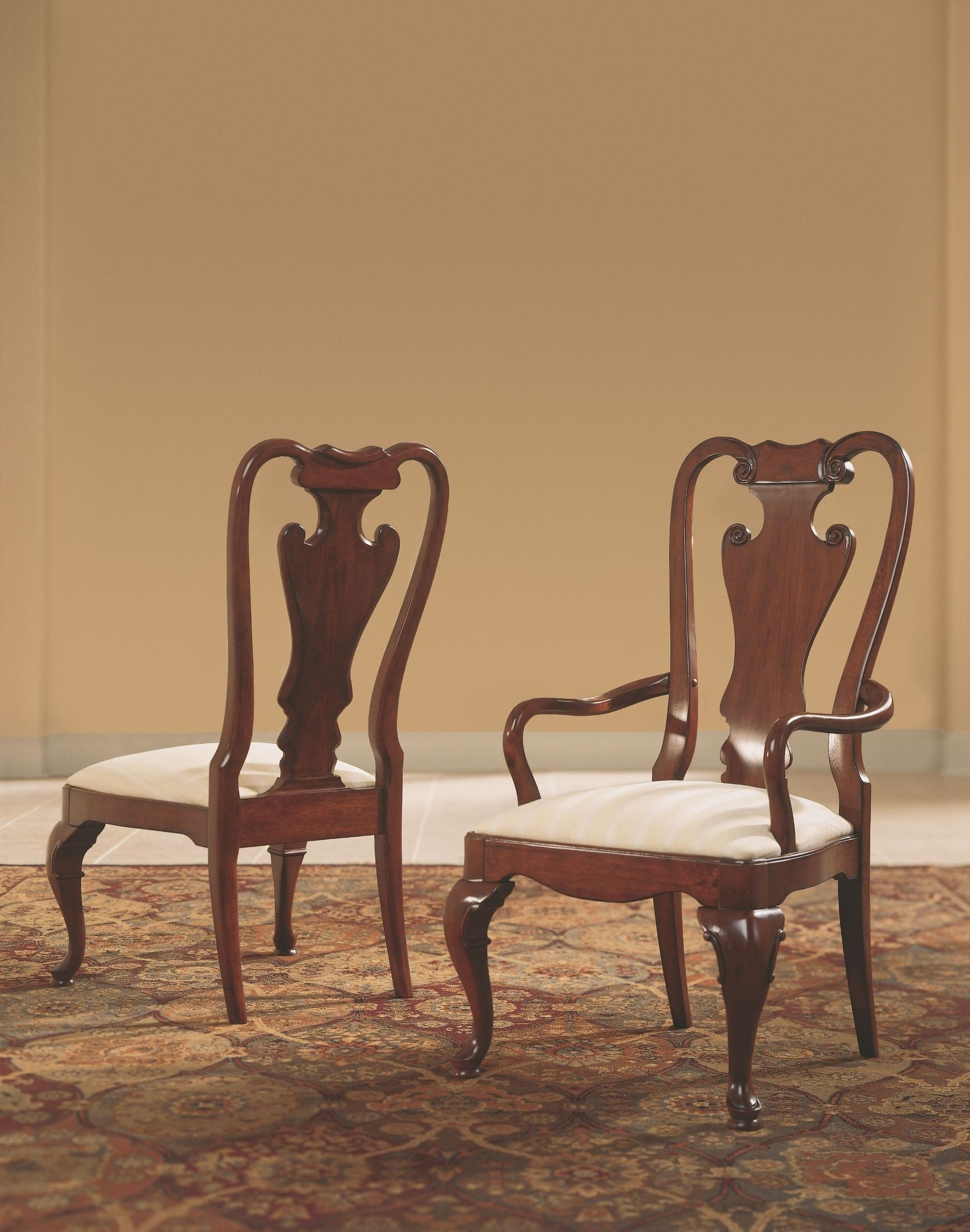 Antique Queen Anne Chairs – Ideas On Foter Intended For Brames Barrel Chair And Ottoman Sets (View 10 of 15)