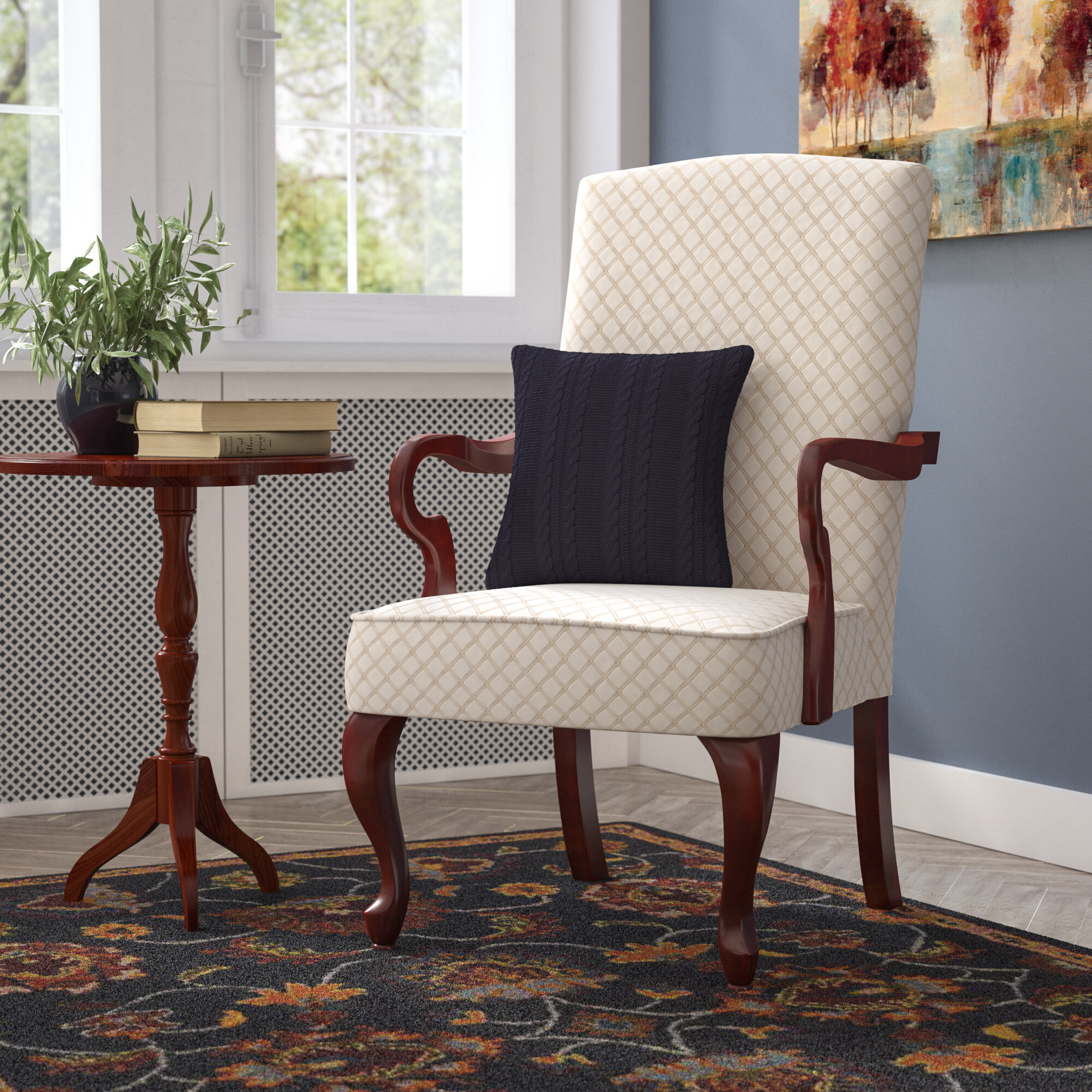Arm Beige Accent Chairs You'Ll Love In 2021 | Wayfair For Bethine Polyester Armchairs (Set Of 2) (View 6 of 15)