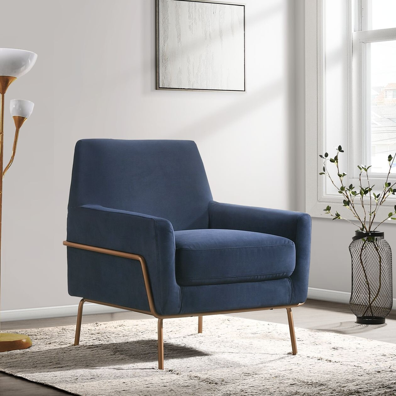 Arm Metal Accent Chairs You'Ll Love In 2021 | Wayfair With Regard To Lakeville Armchairs (View 3 of 15)