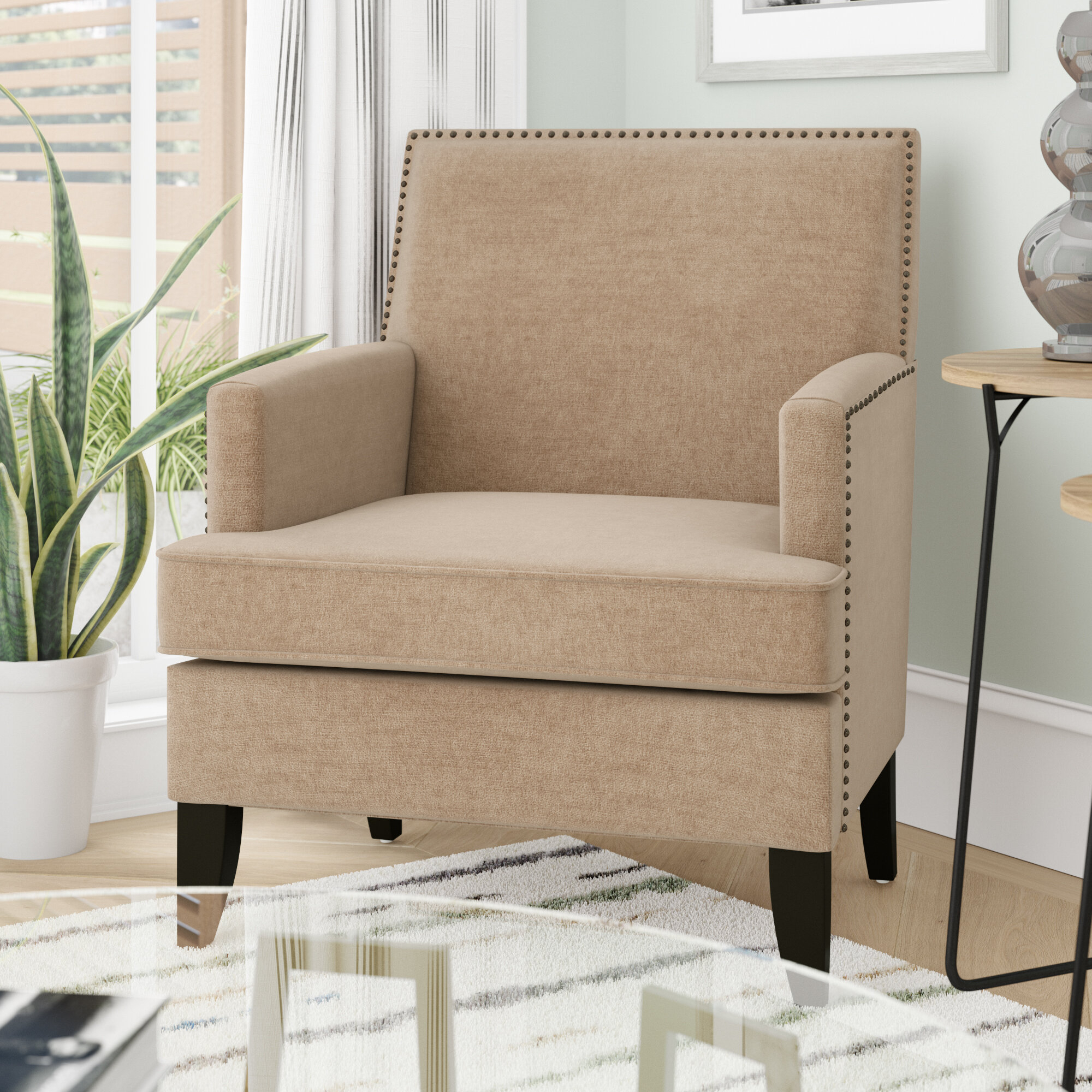 Arm Modern & Contemporary Accent Chairs You'Ll Love In 2021 Intended For Bethine Polyester Armchairs (Set Of 2) (View 7 of 15)
