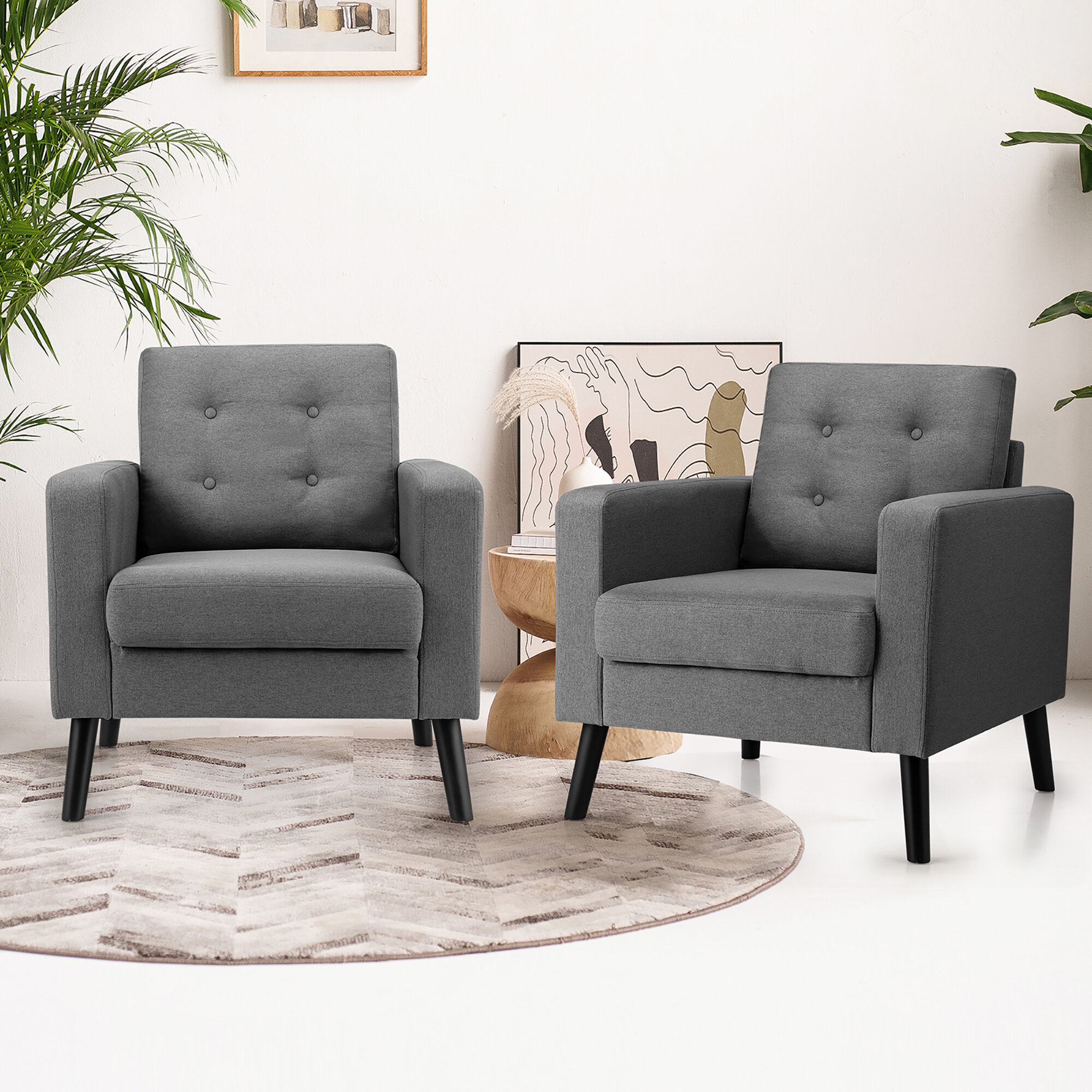 Arm Modern & Contemporary Accent Chairs You'Ll Love In 2021 Pertaining To Bethine Polyester Armchairs (Set Of 2) (View 8 of 15)