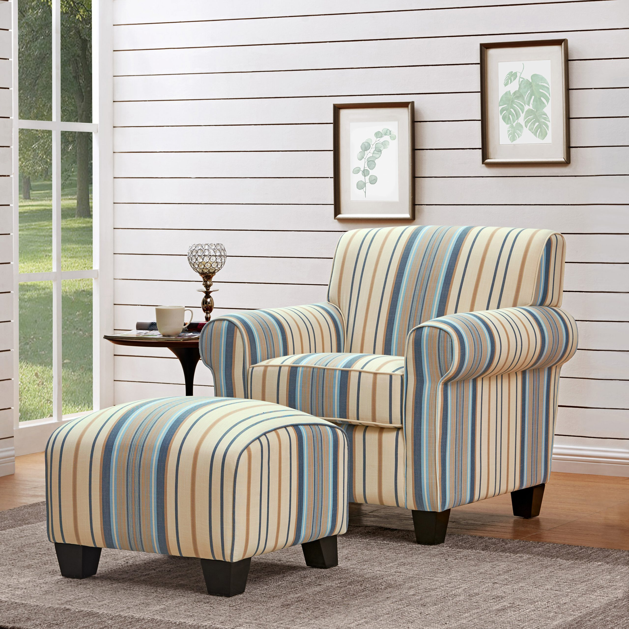 Arm Ottoman Included Accent Chairs You'Ll Love In 2021 | Wayfair With Alexander Cotton Blend Armchairs And Ottoman (View 4 of 15)