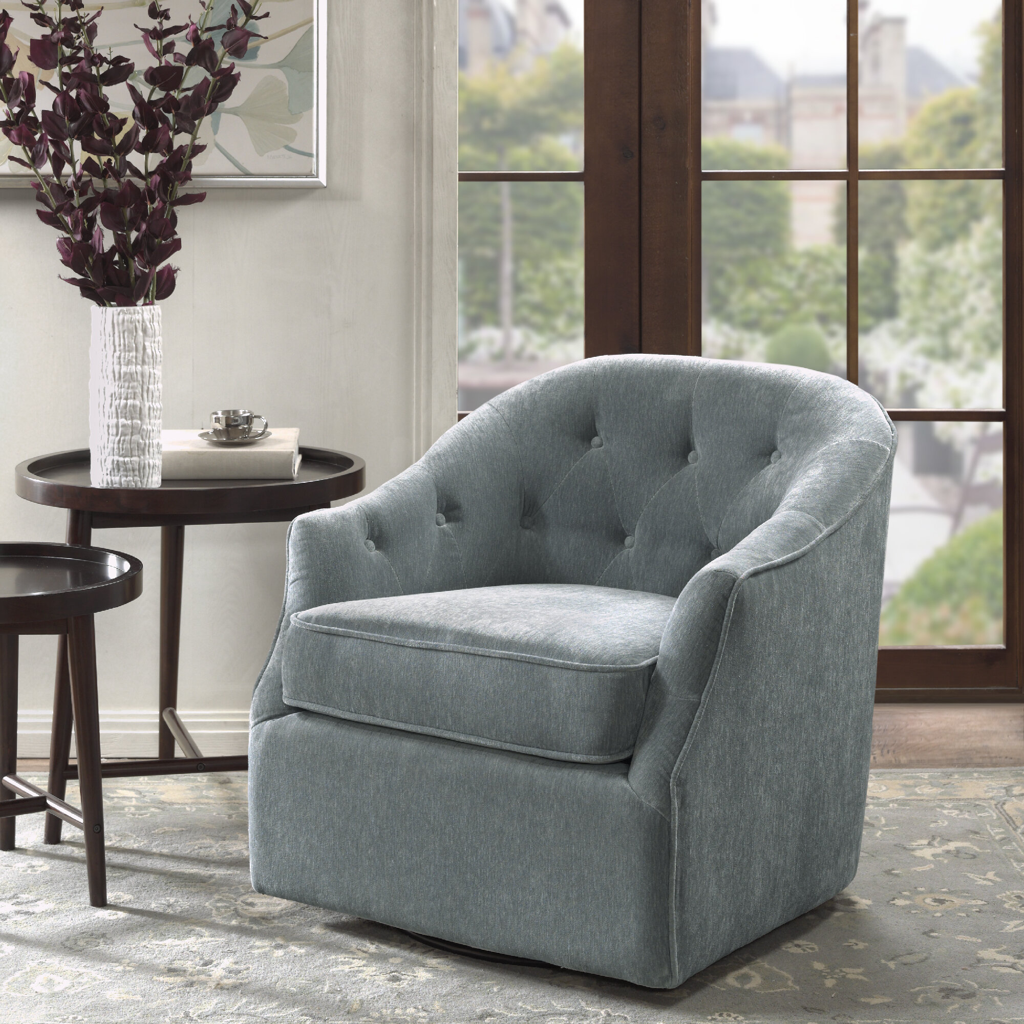 Arm Swivel Accent Chairs You'Ll Love In 2021 | Wayfair In Zalina Swivel Armchairs (View 5 of 15)
