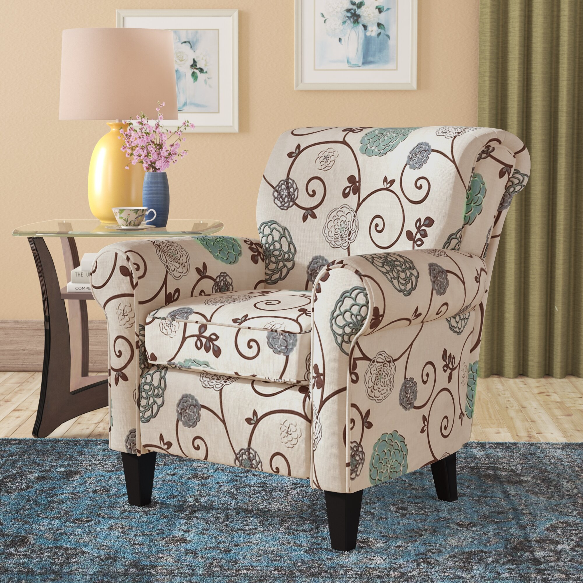 Armchairs | Wayfair With Dallin Arm Chairs (View 14 of 15)