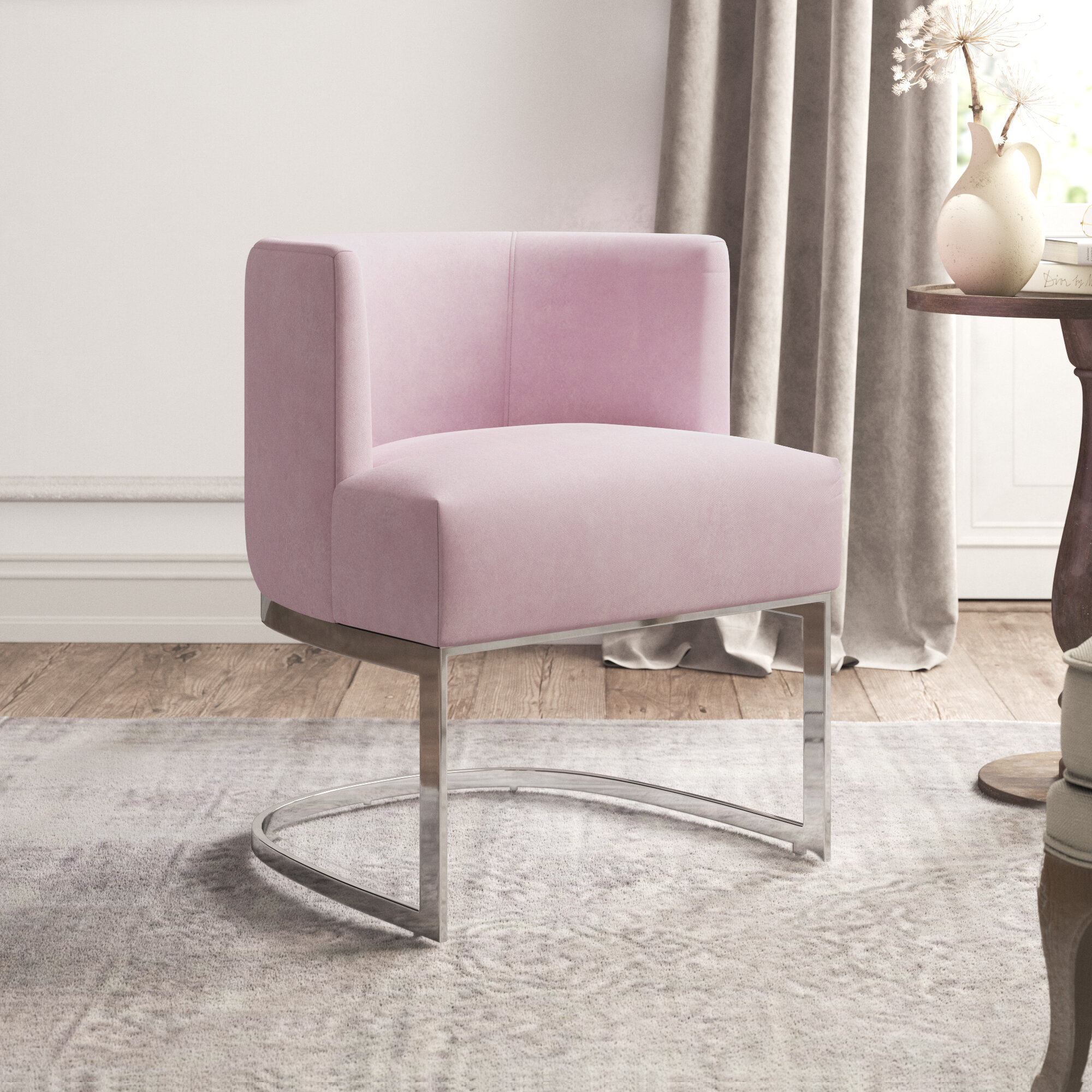 Armless Barrel Accent Chairs You'Ll Love In 2021 | Wayfair Within Riverside Drive Barrel Chair And Ottoman Sets (View 14 of 15)
