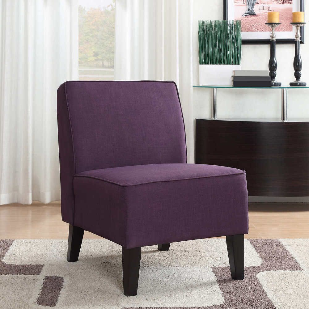 Armless Slipper Chair Soft Comfy Cushion Solid Wood Legs With Regard To Wadhurst Slipper Chairs (View 5 of 15)