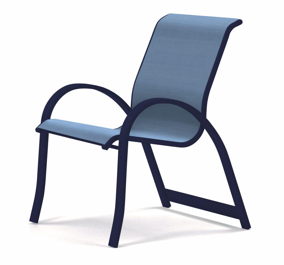 Aruba Ii Stacking Patio Dining Armchair With Regard To Beachwood Arm Chairs (View 11 of 15)