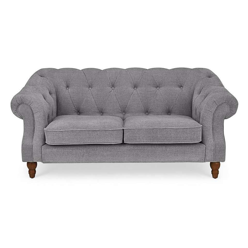 Aubrey Chesterfield 2 Seater Sofa | 2 Seater Sofa, Seater Pertaining To Chaithra Barrel Chair And Ottoman Sets (View 11 of 15)