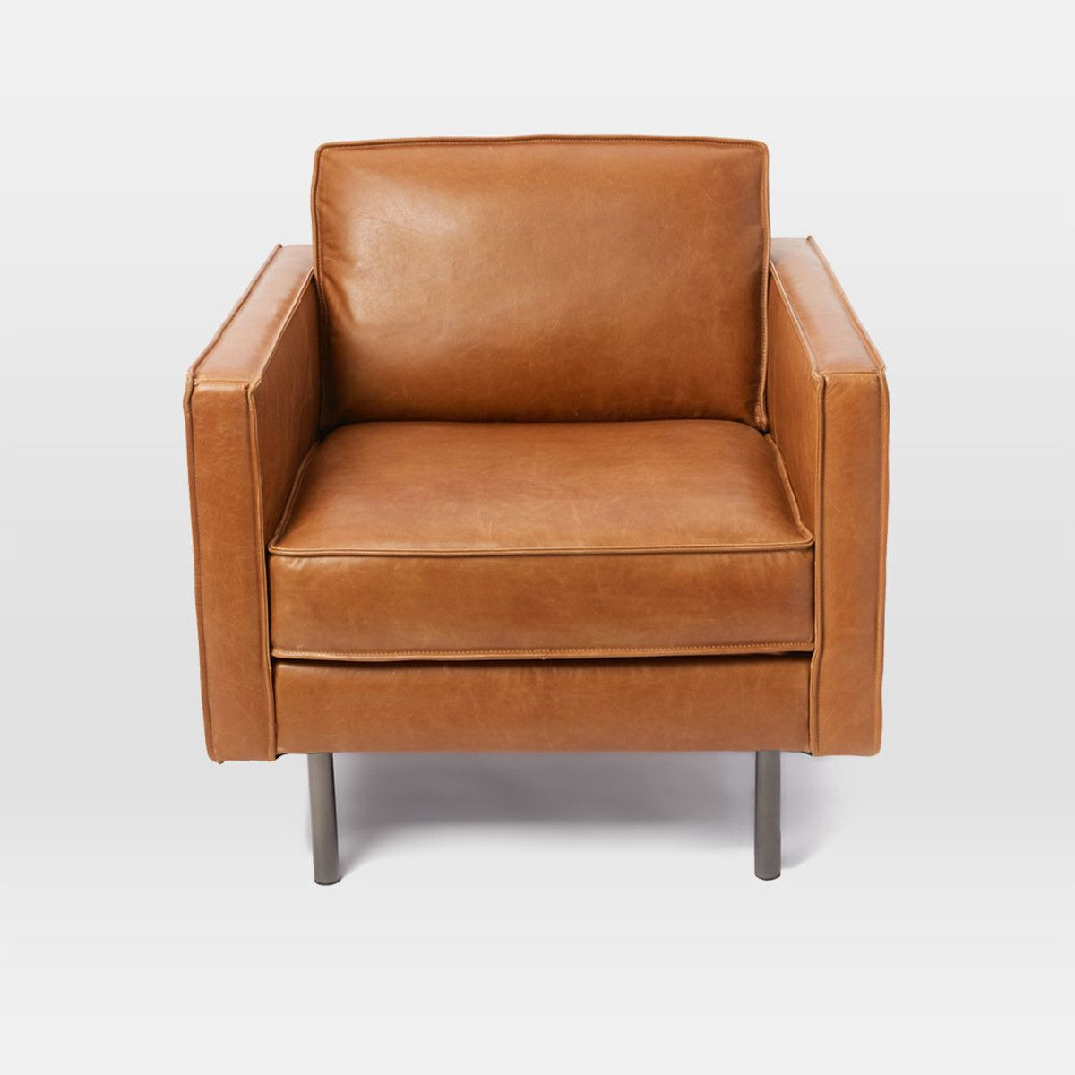 Axel Leather Armchair | Brown Leather Chairs, Leather Intended For Jill Faux Leather Armchairs (View 11 of 15)