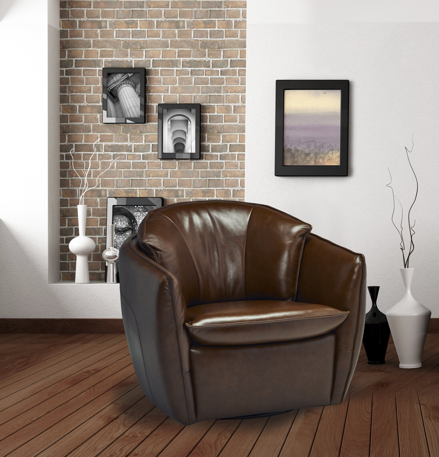 Barrel 17 Stories Accent Chairs You'Ll Love In 2021 | Wayfair With Hazley Faux Leather Swivel Barrel Chairs (View 15 of 15)