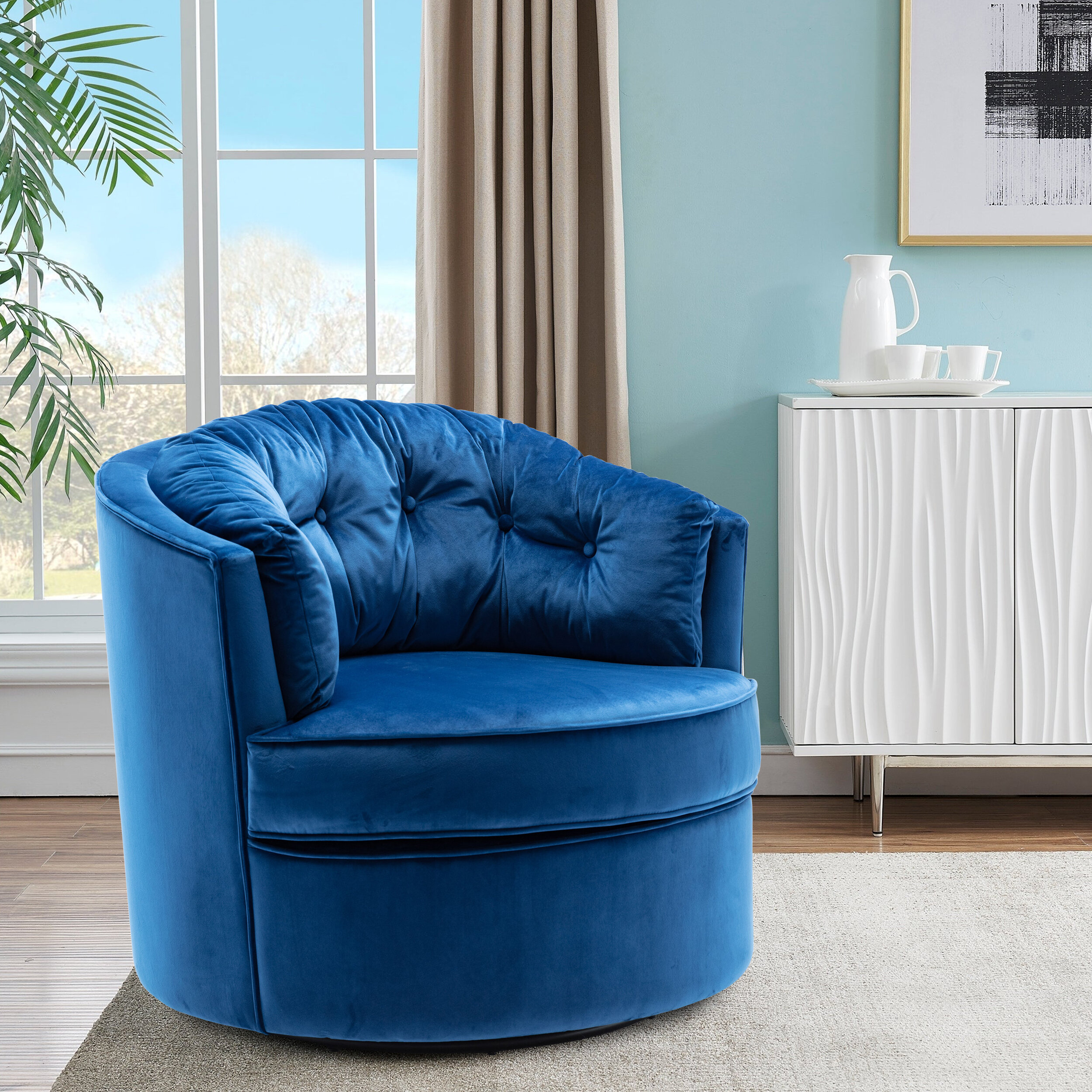 Barrel Accent Chairs On Sale | Wayfair For Giguere Barrel Chairs (View 10 of 15)