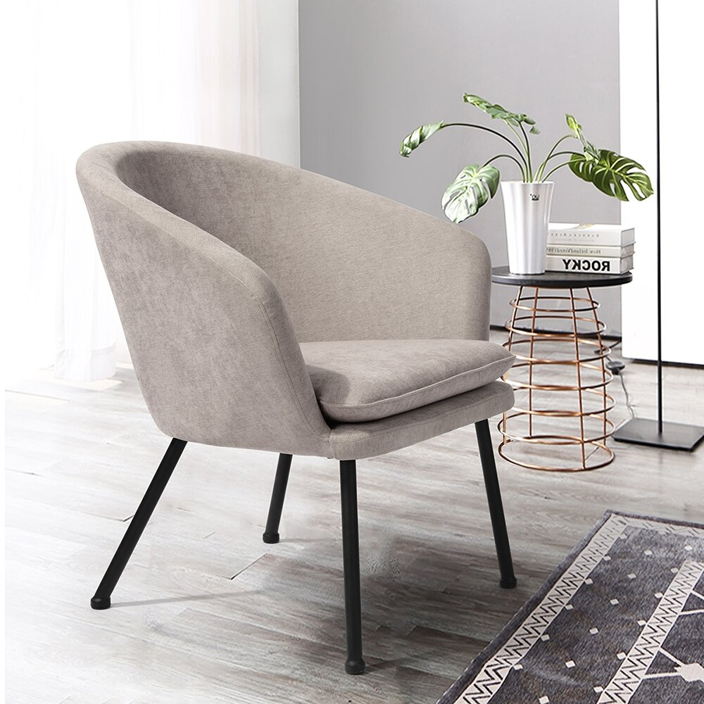 Barrel Beige Accent Chairs You'Ll Love In 2021   Wayfair Inside Danow Polyester Barrel Chairs (View 13 of 15)