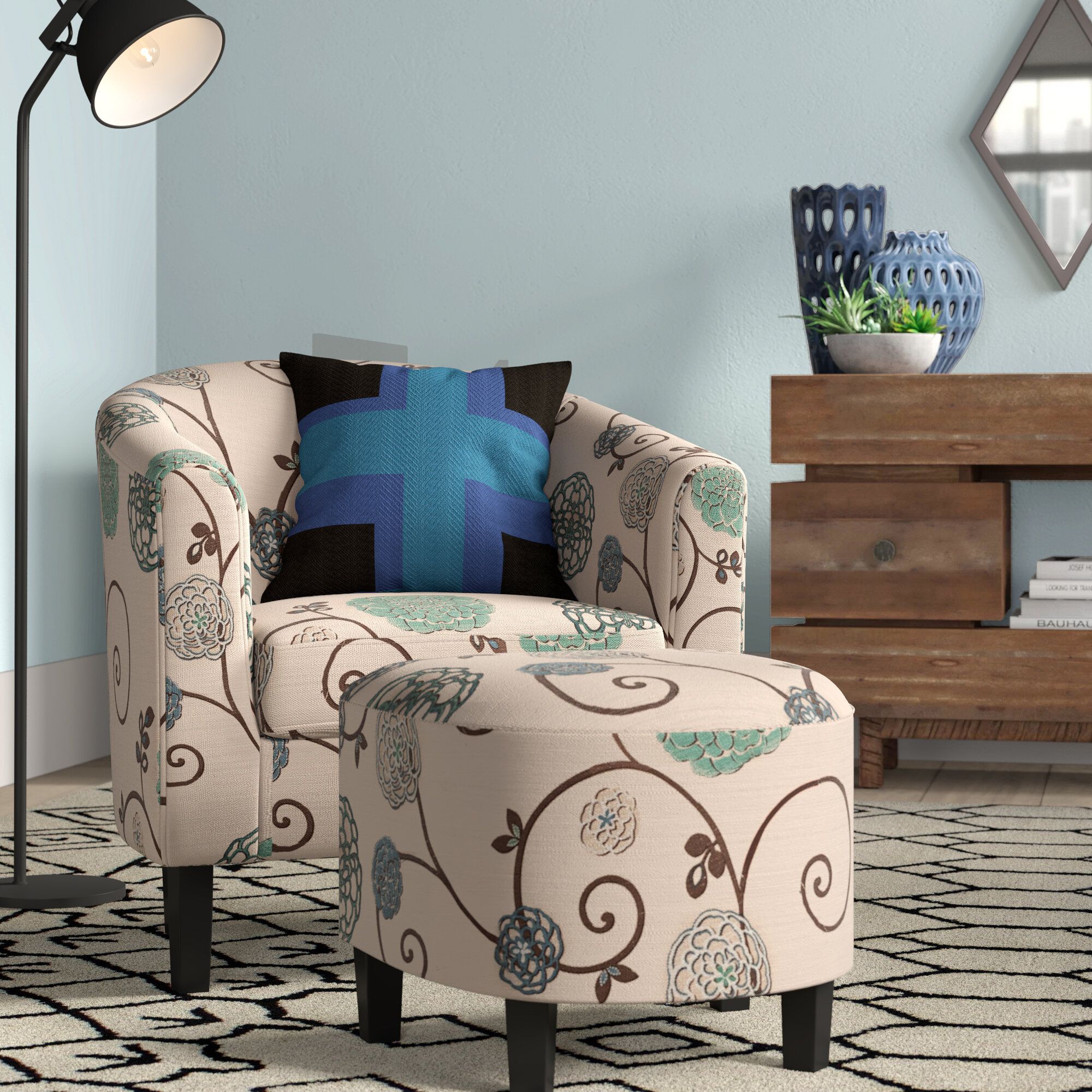 Barrel Grey Accent Chairs You'Ll Love In 2021 | Wayfair Within Harmon Cloud Barrel Chairs And Ottoman (View 11 of 15)