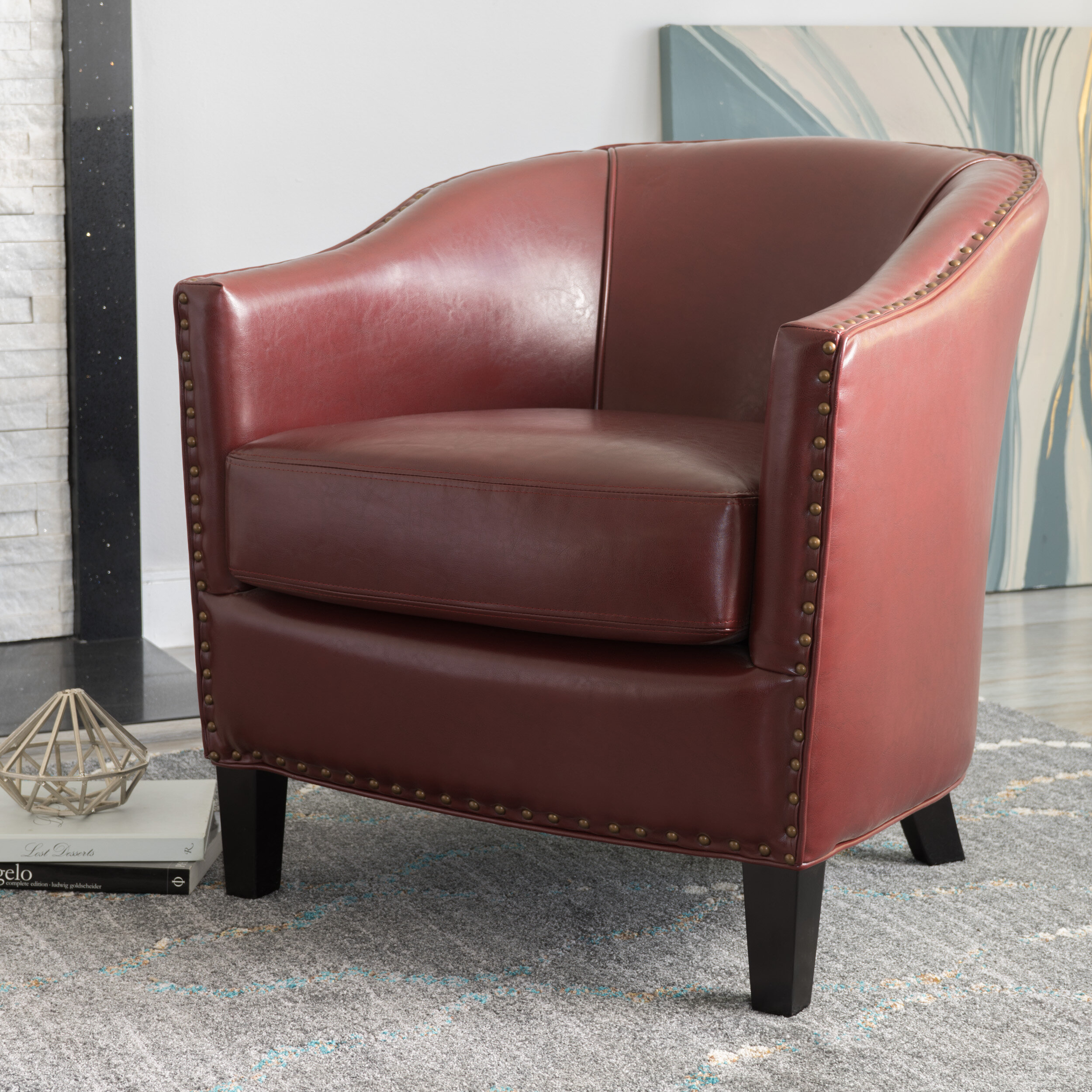 Barrel Ivory & Cream Accent Chairs You'Ll Love In 2021 | Wayfair Pertaining To Coomer Faux Leather Barrel Chairs (View 10 of 15)