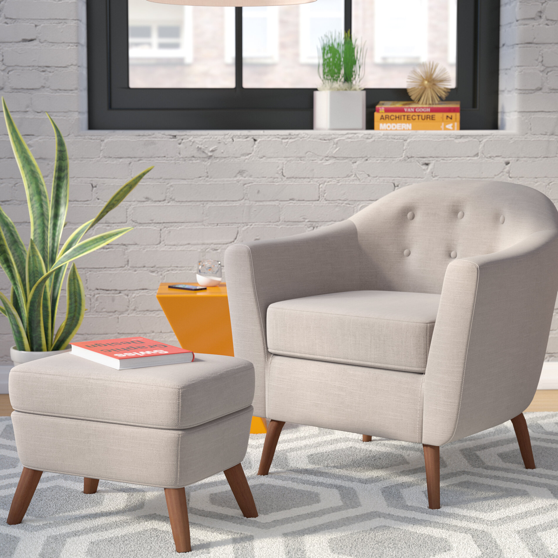 Barrel Scandinavian Accent Chairs You'Ll Love In 2021 | Wayfair Intended For Claudel Polyester Blend Barrel Chairs (View 8 of 15)