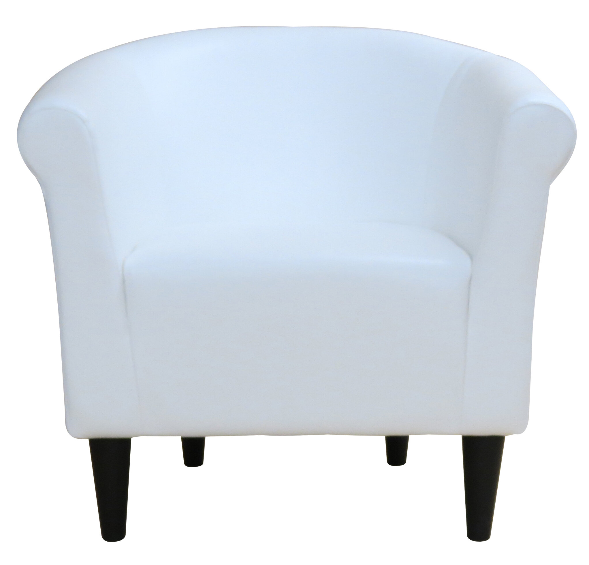 Barrel White Accent Chairs You'Ll Love In 2021 | Wayfair For Gilad Faux Leather Barrel Chairs (View 14 of 15)