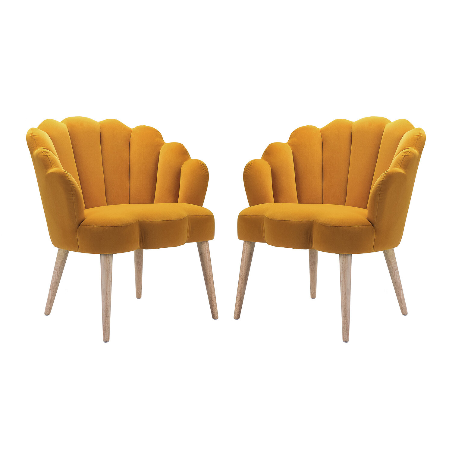 Barrel Yellow Accent Chairs You'Ll Love In 2021 | Wayfair In Alwillie Tufted Back Barrel Chairs (View 9 of 15)