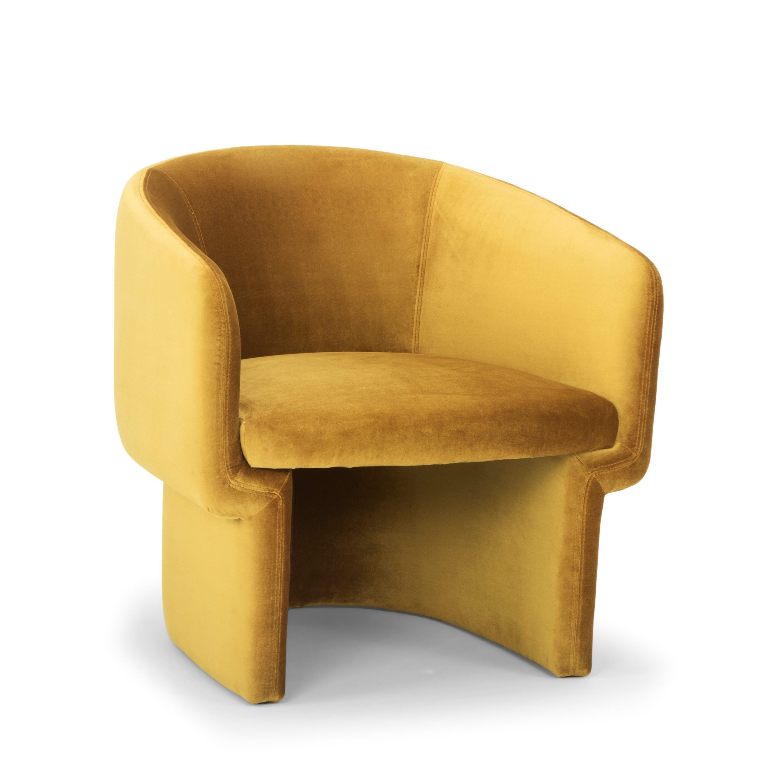 Barrel Yellow Accent Chairs You'Ll Love In 2021 | Wayfair Pertaining To Coomer Faux Leather Barrel Chairs (View 5 of 15)