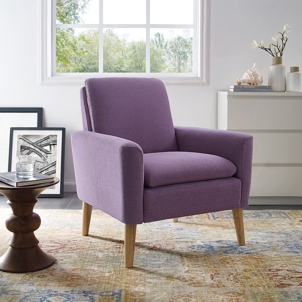 Beige & Purple Accent Chairs You'Ll Love In 2021 | Wayfair In Biggerstaff Polyester Blend Armchairs (View 12 of 15)