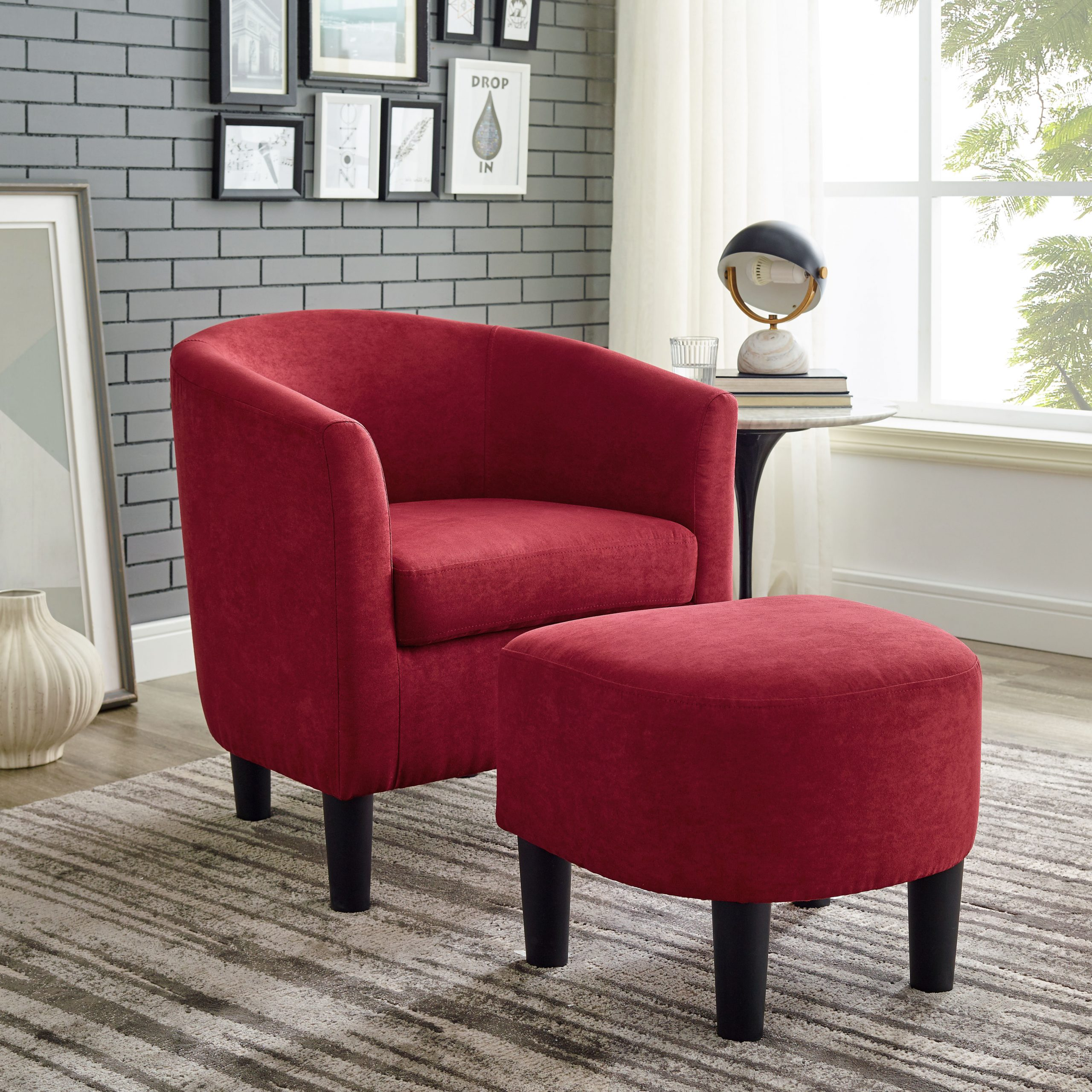 Beige & Red Accent Chairs You'Ll Love In 2021 | Wayfair Within Chaithra Barrel Chair And Ottoman Sets (View 3 of 15)
