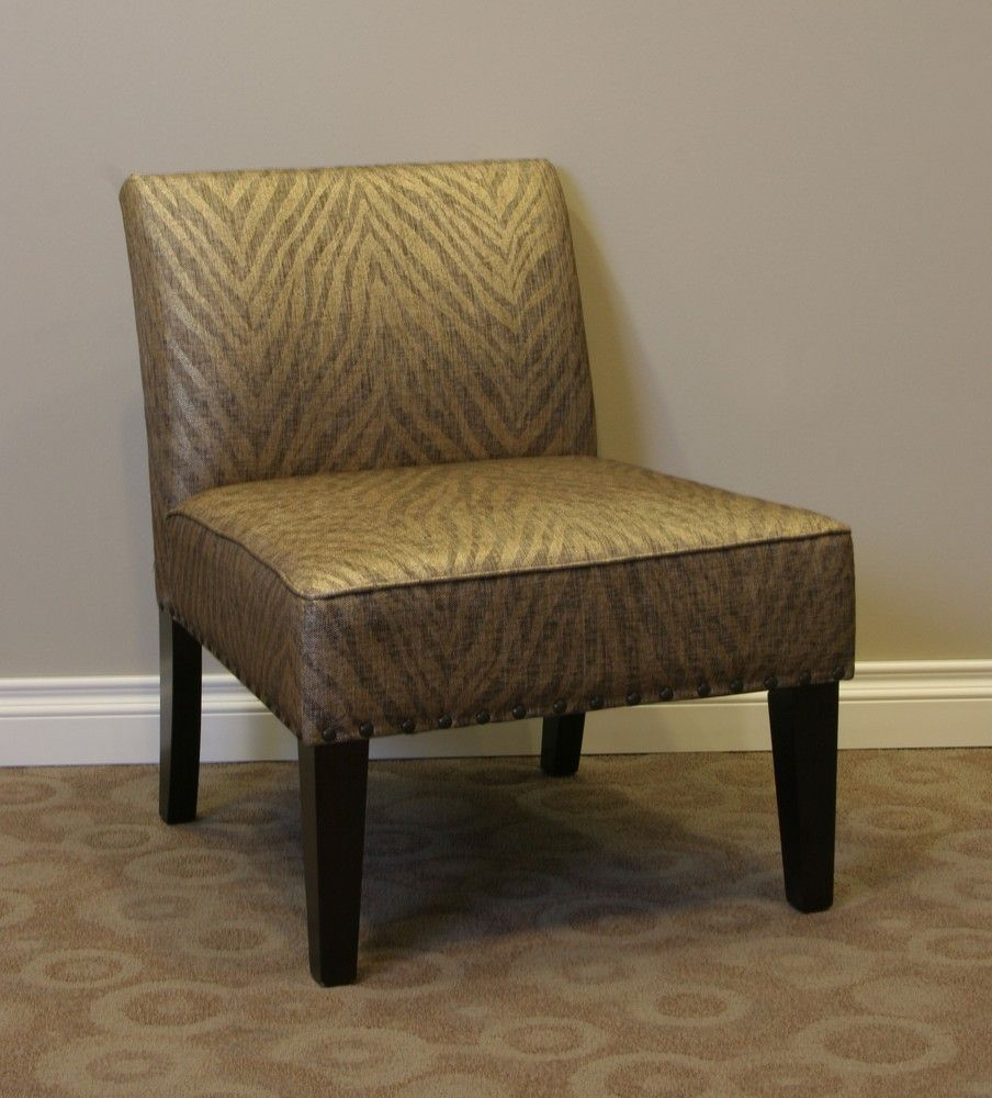 Belinda Accent Chair In Metallic Woven Linen – 4D Concepts In Maubara Tufted Wingback Chairs (View 15 of 15)
