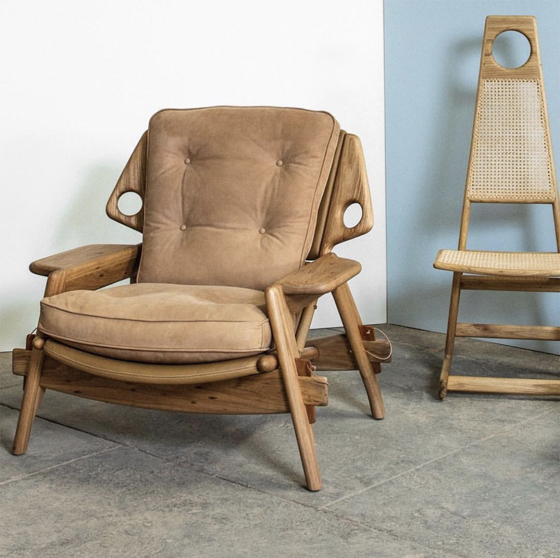 Benjamin Lounge Armchair And Menna Dining Chairsergio Intended For Pitts Armchairs (View 7 of 15)