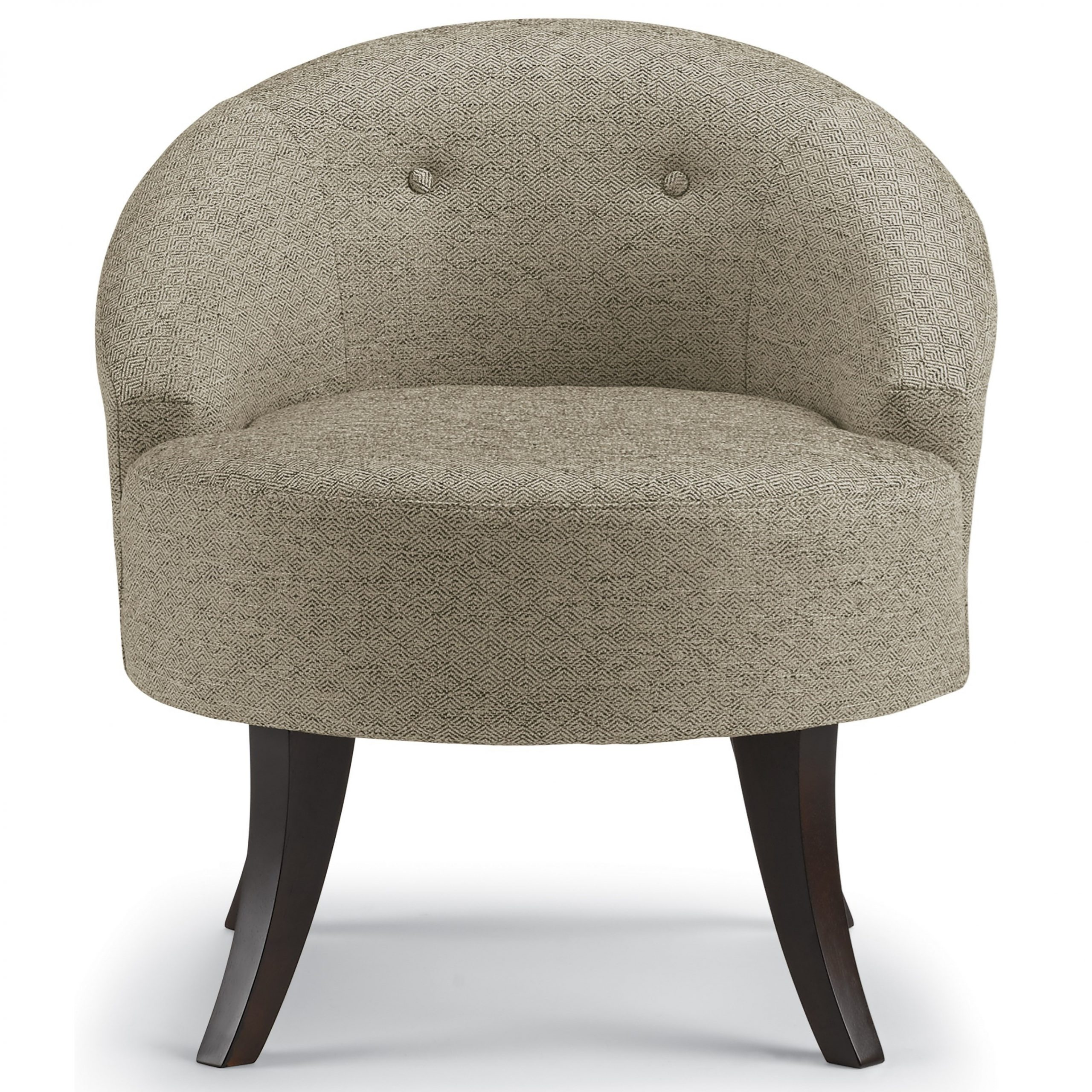Best Home Furnishings Best Xpress – Vann Contemporary Swivel Throughout Louisiana Barrel Chair And Ottoman Sets (View 6 of 15)