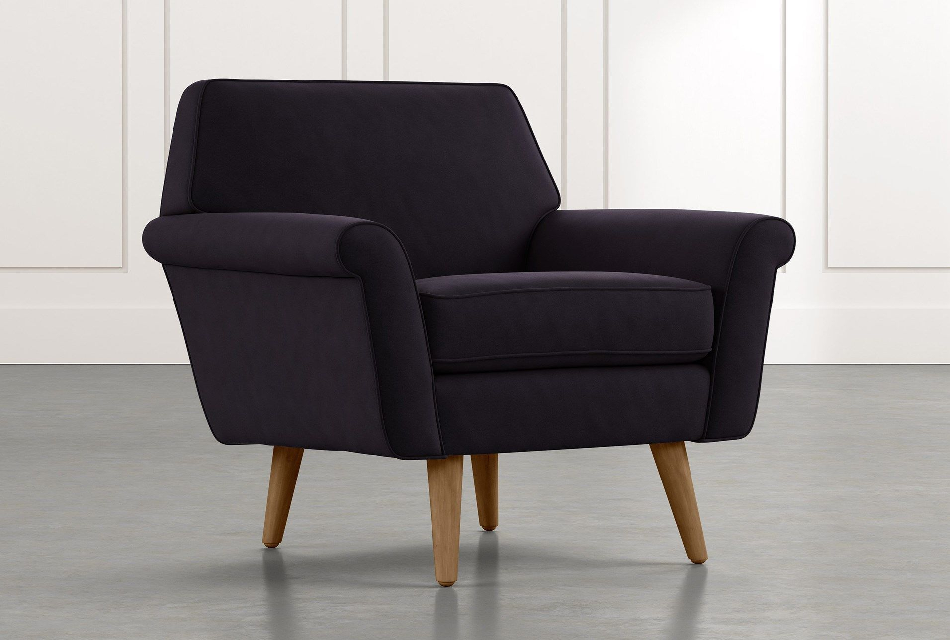 Black Accent Chairs | Furniture Uk Inside Lucea Faux Leather Barrel Chairs And Ottoman (View 15 of 15)