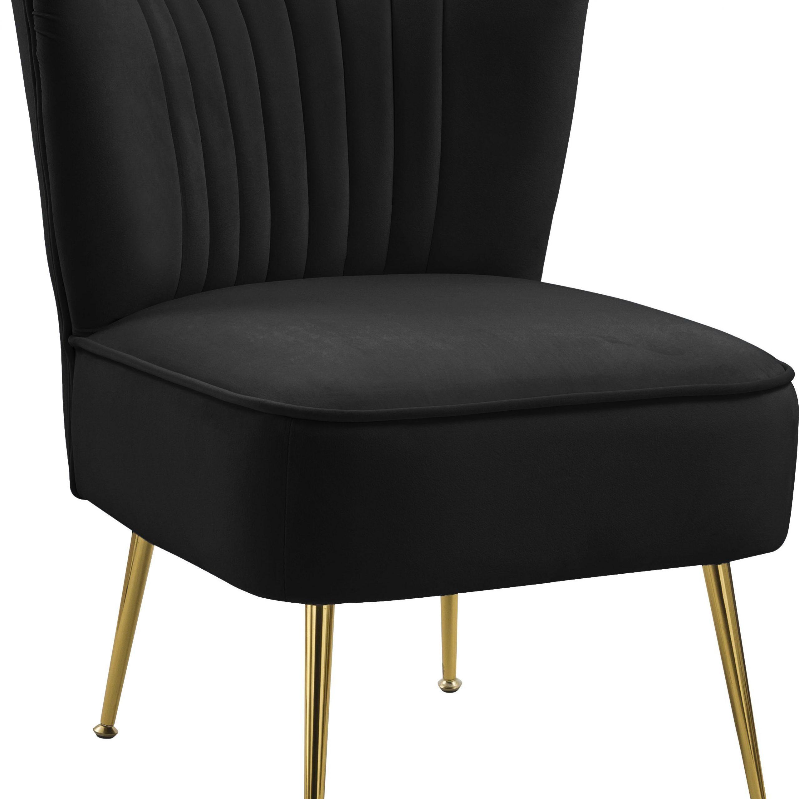 Black Tess Velvet Accent Chair | 504Black | Velvet Accent For Daulton Velvet Side Chairs (View 15 of 15)