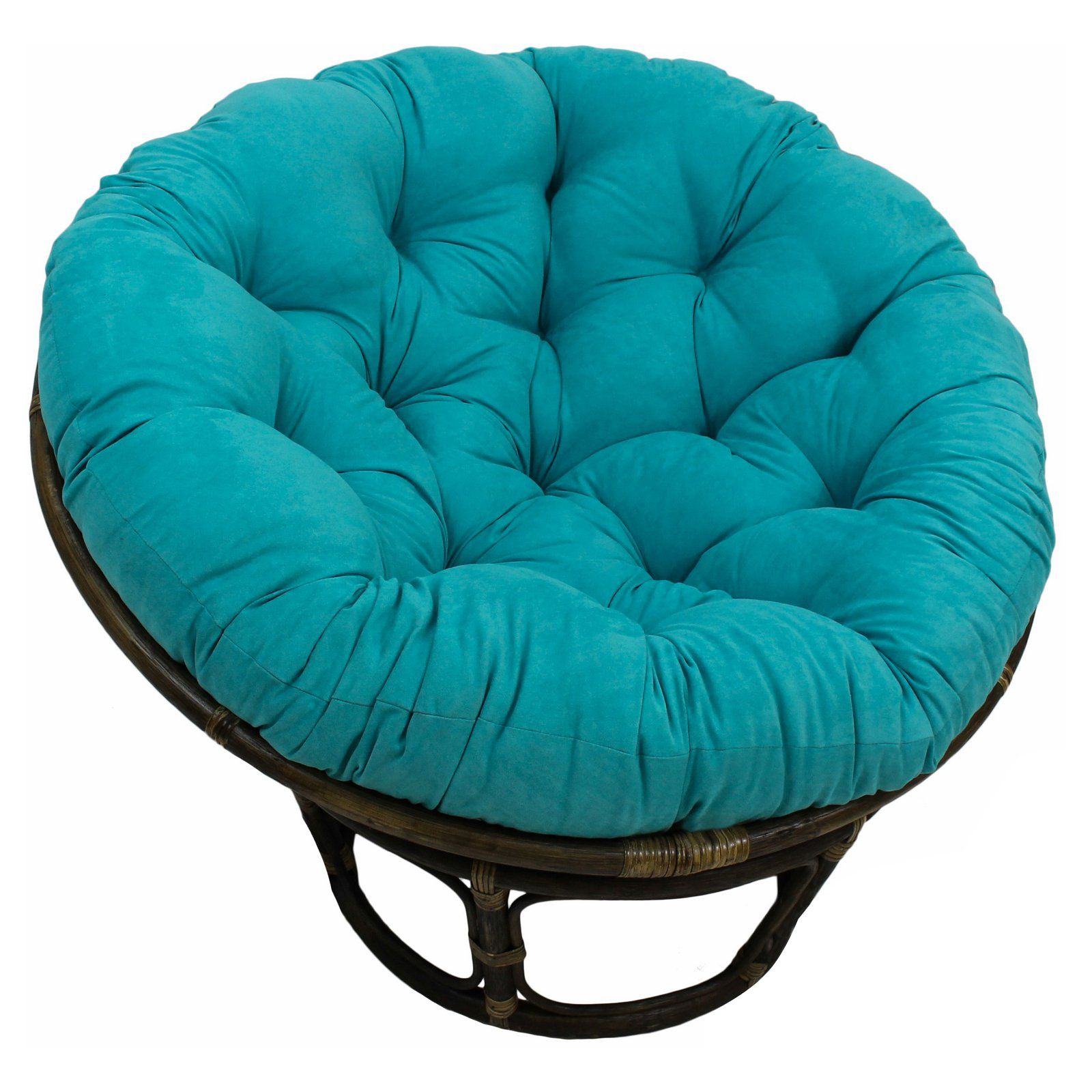 Blazing Needles Microsuede Papasan Cushion Saddle Brown Intended For Campton Papasan Chairs (View 11 of 15)