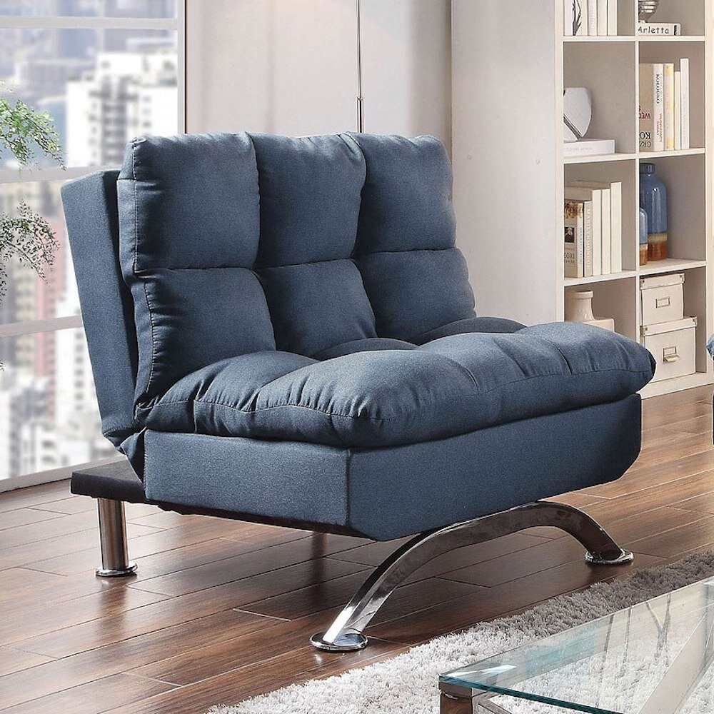 Blue Convertible Accent Chairs You'Ll Love In 2021 | Wayfair With Regard To Onderdonk Faux Leather Convertible Chairs (View 6 of 15)
