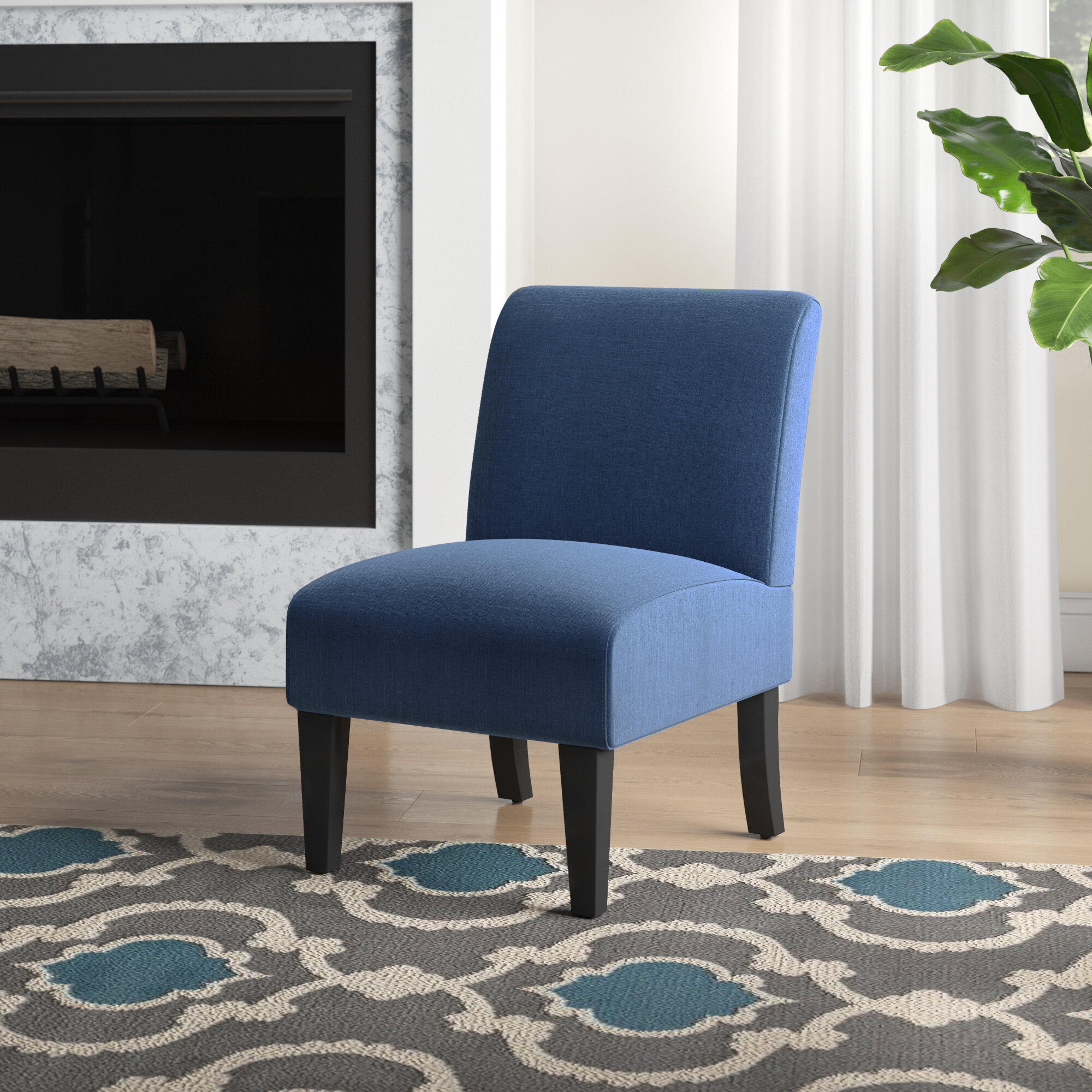 Blue & Green Accent Chairs You'Ll Love In 2021 | Wayfair Within Bethine Polyester Armchairs (Set Of 2) (View 13 of 15)